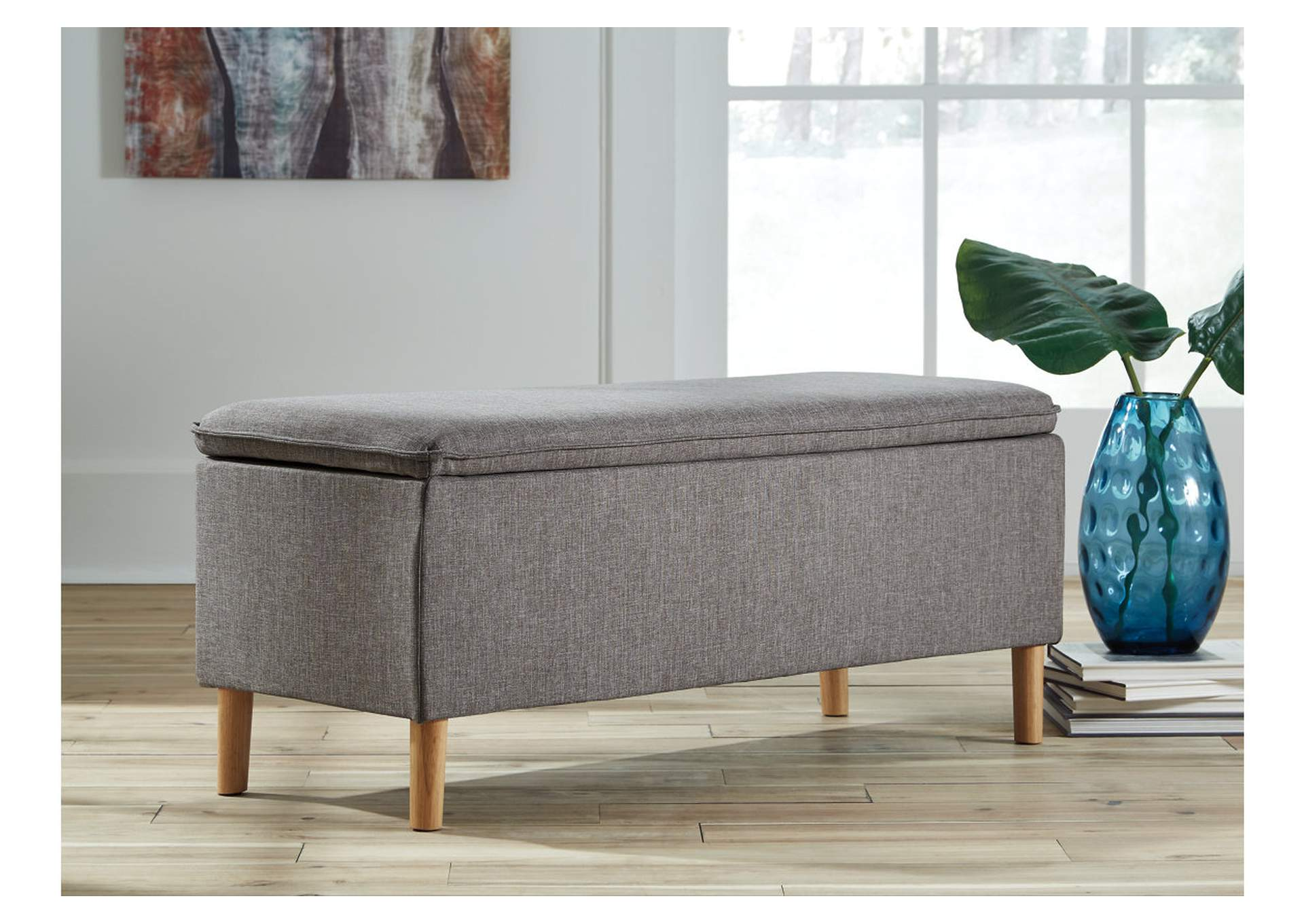 Caviton Gray Accent Bench,Direct To Consumer Express