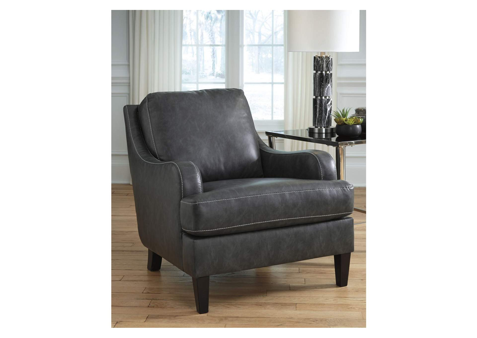 Tirolo Dark Gray Accent Chair,Signature Design By Ashley