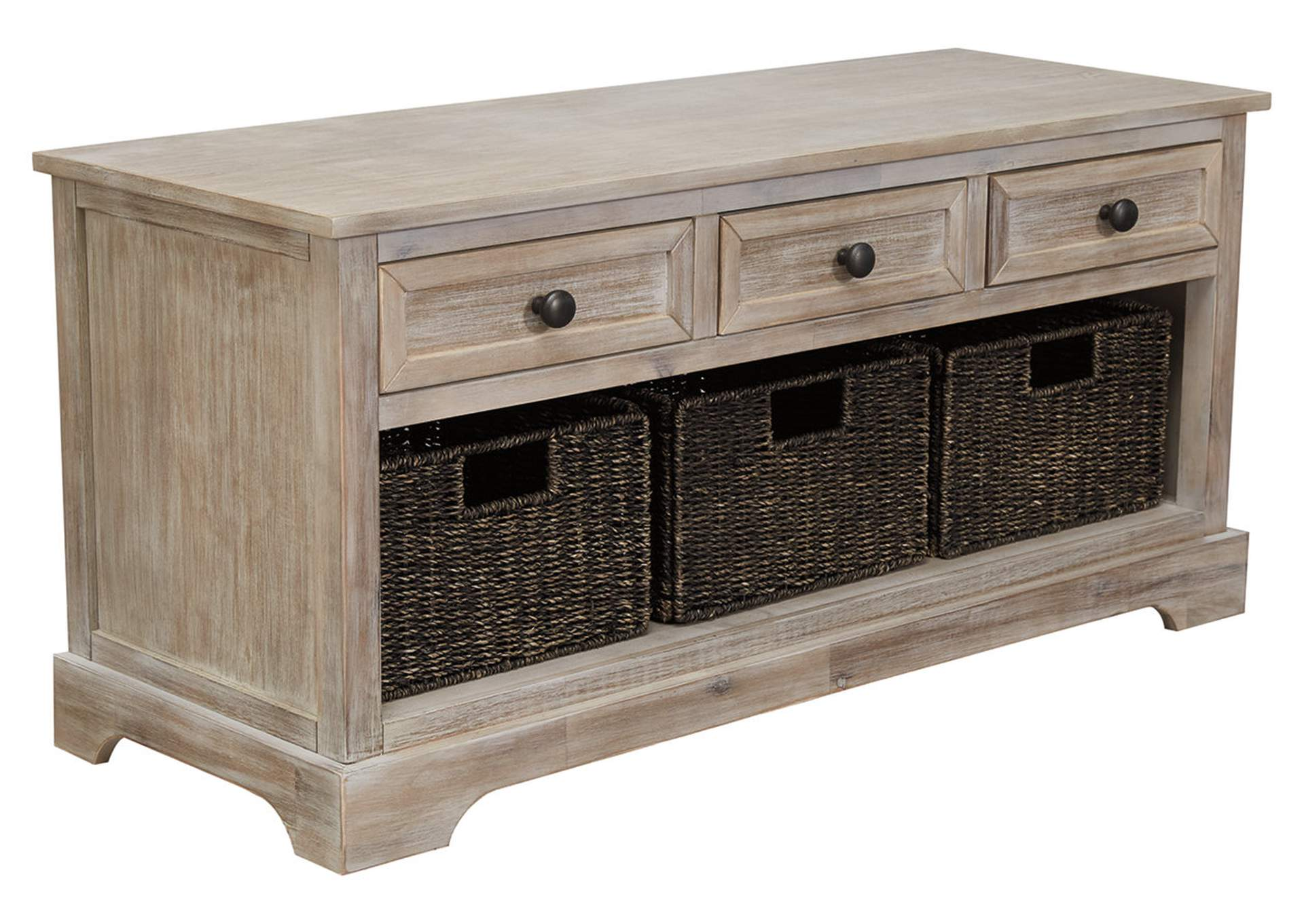 Oslember Brown Storage Bench,Signature Design By Ashley