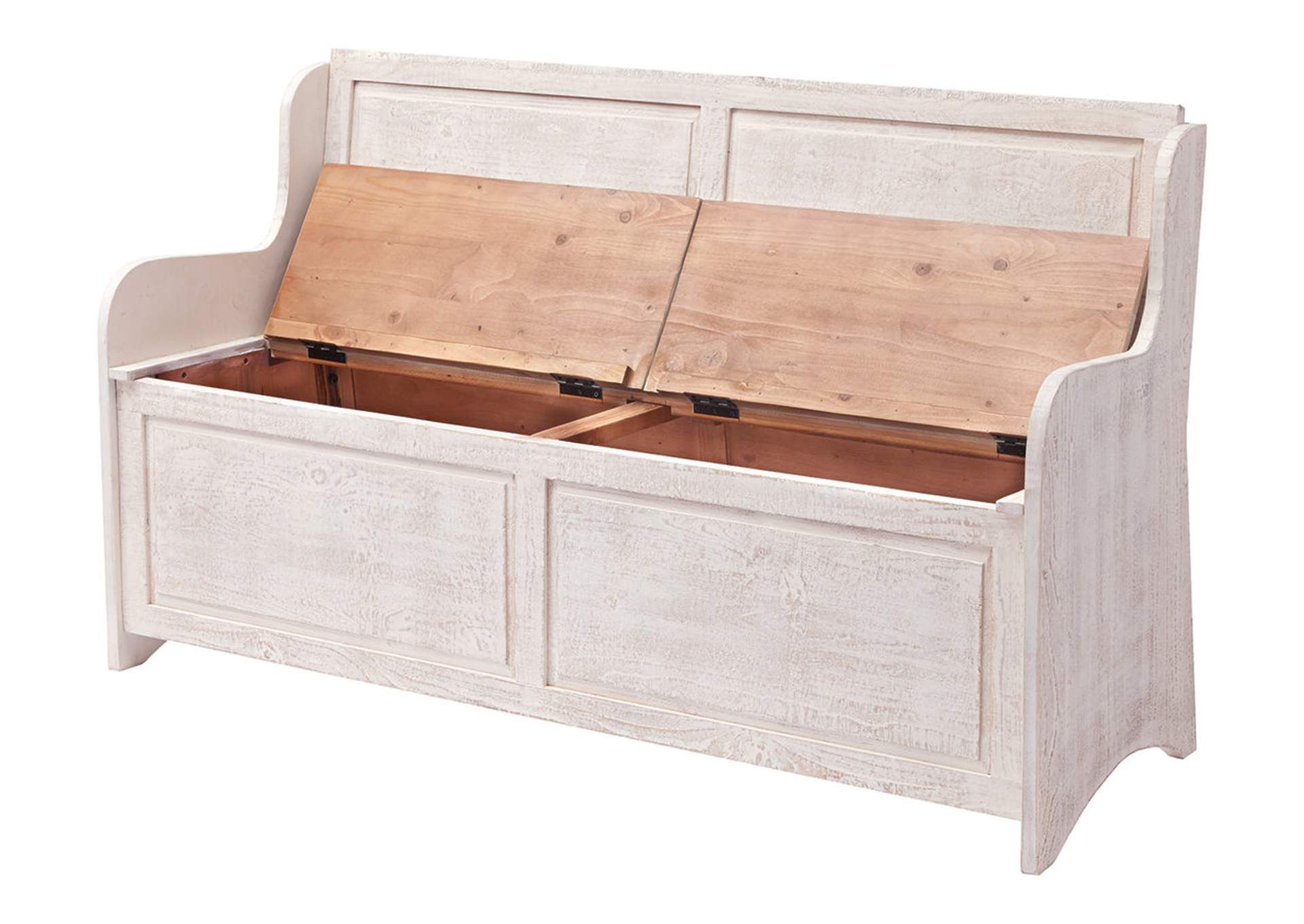 Dannerville Antique White Storage Bench,Signature Design By Ashley