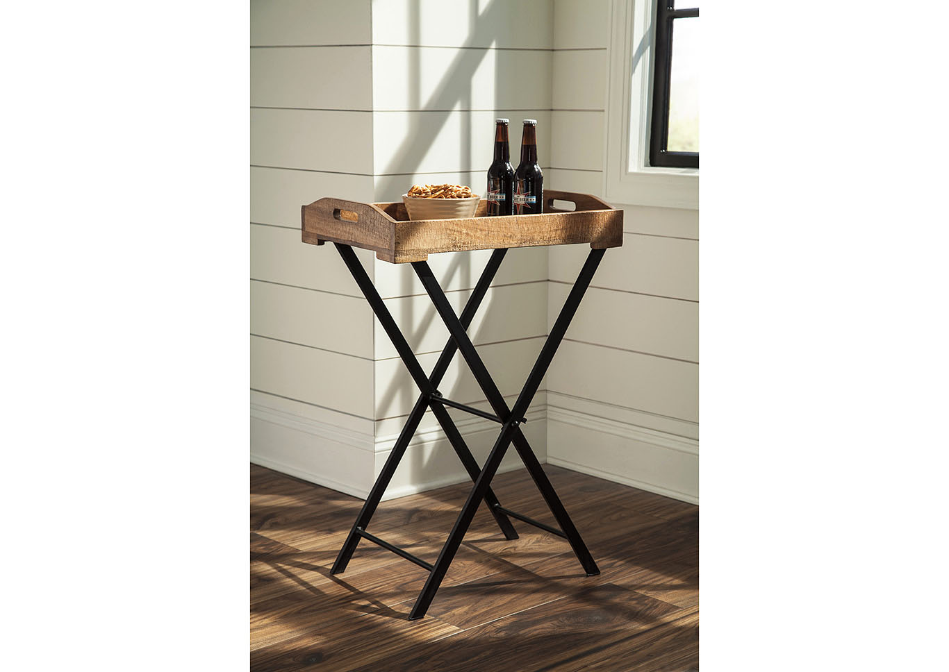 Cadocridge Brown/Black Accent Table,Signature Design By Ashley