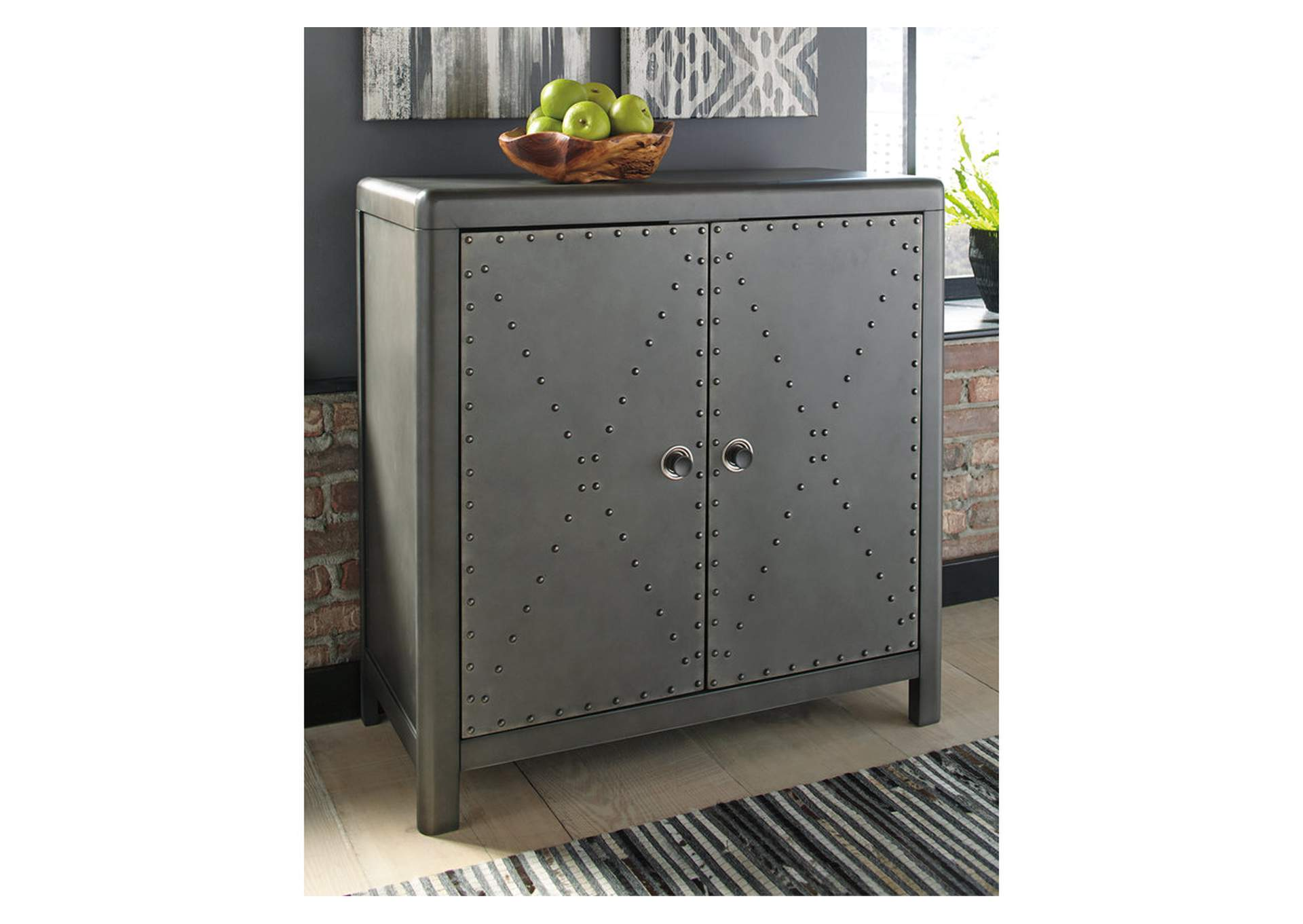 Rock Ridge Aged Steel Door Accent Cabinet,Direct To Consumer Express