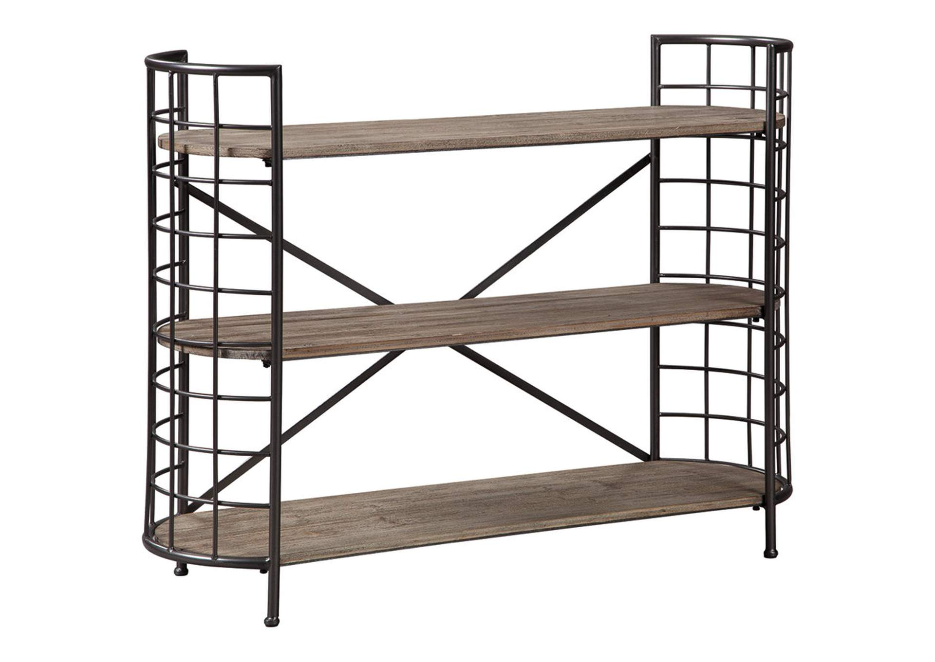Flintley Brown/Gunmetal Bookcase,Signature Design By Ashley