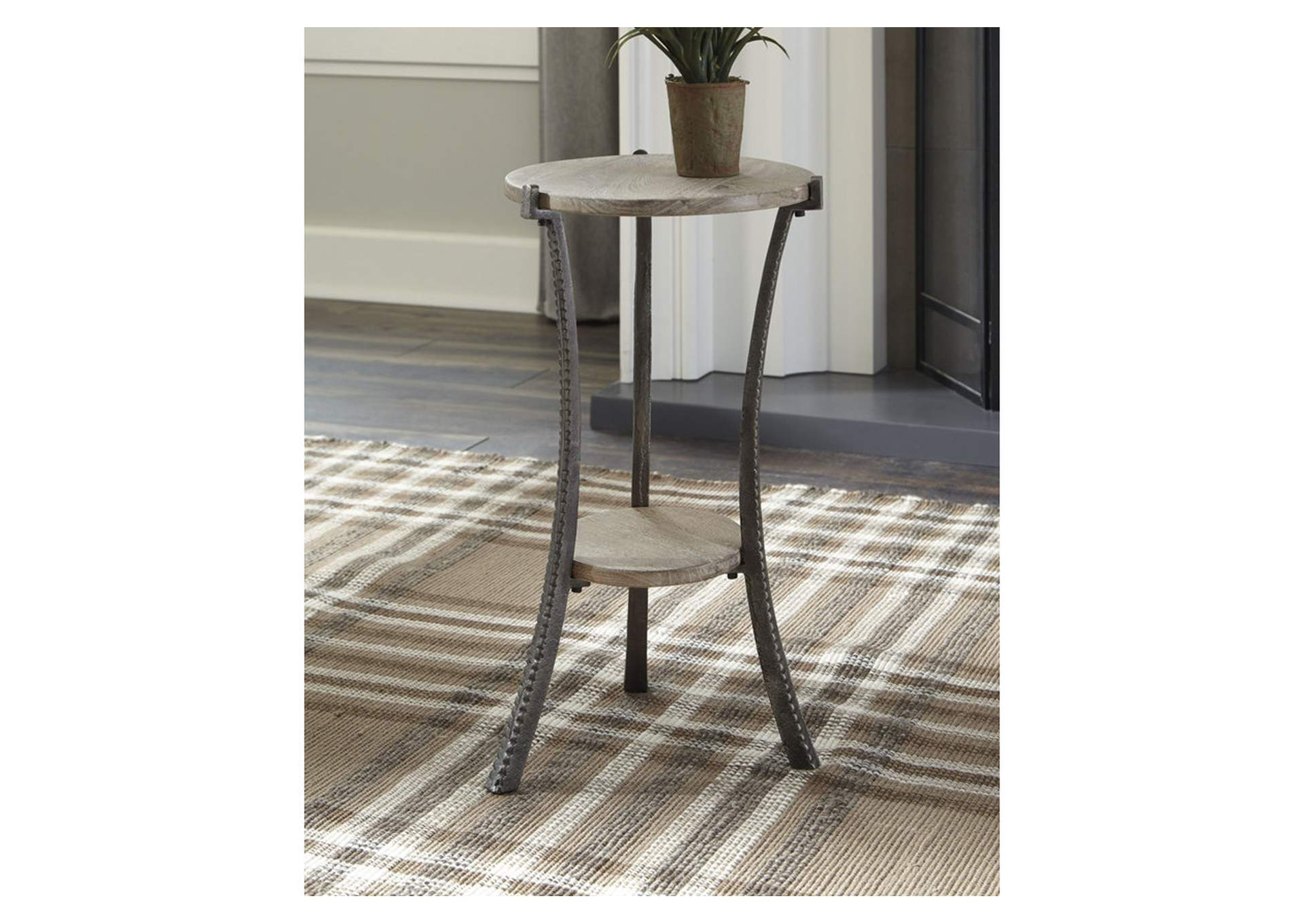 Enderton White Wash/Pewter Accent Table,Signature Design By Ashley