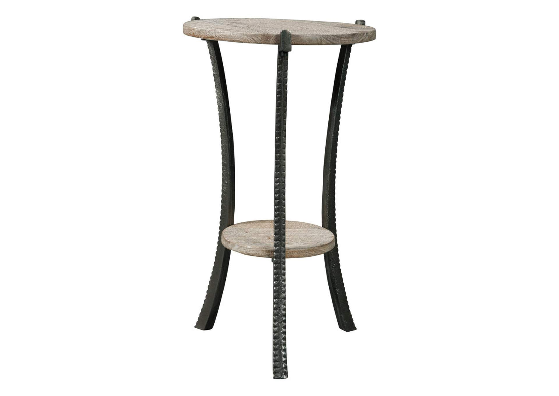 Enderton White Wash/Pewter Accent Table,Direct To Consumer Express
