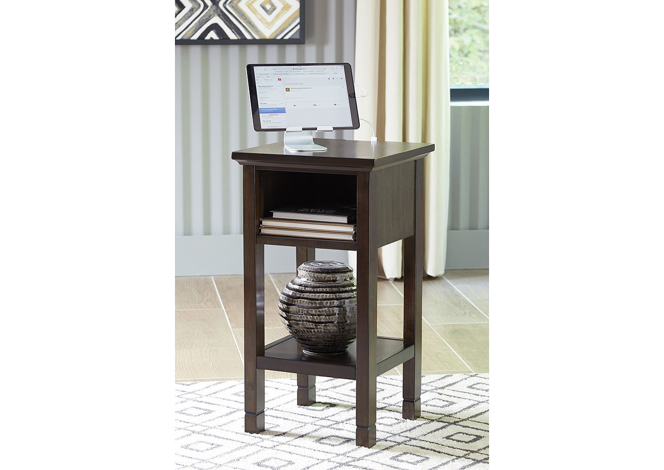 Marnville Dark Brown Accent Table,Signature Design By Ashley