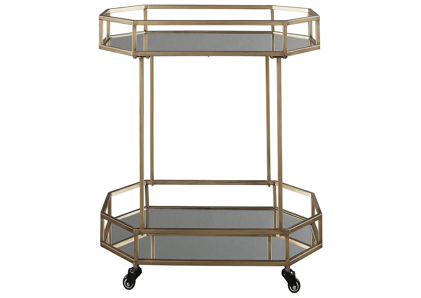 Daymont Gold Bar Cart,Signature Design By Ashley