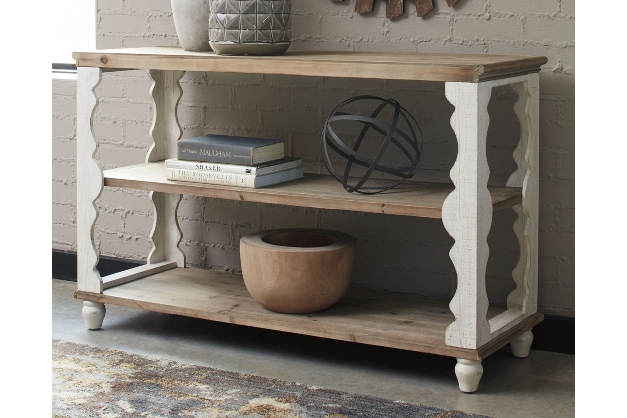 Alwyndale Antique White/Brown Console Table,Signature Design By Ashley