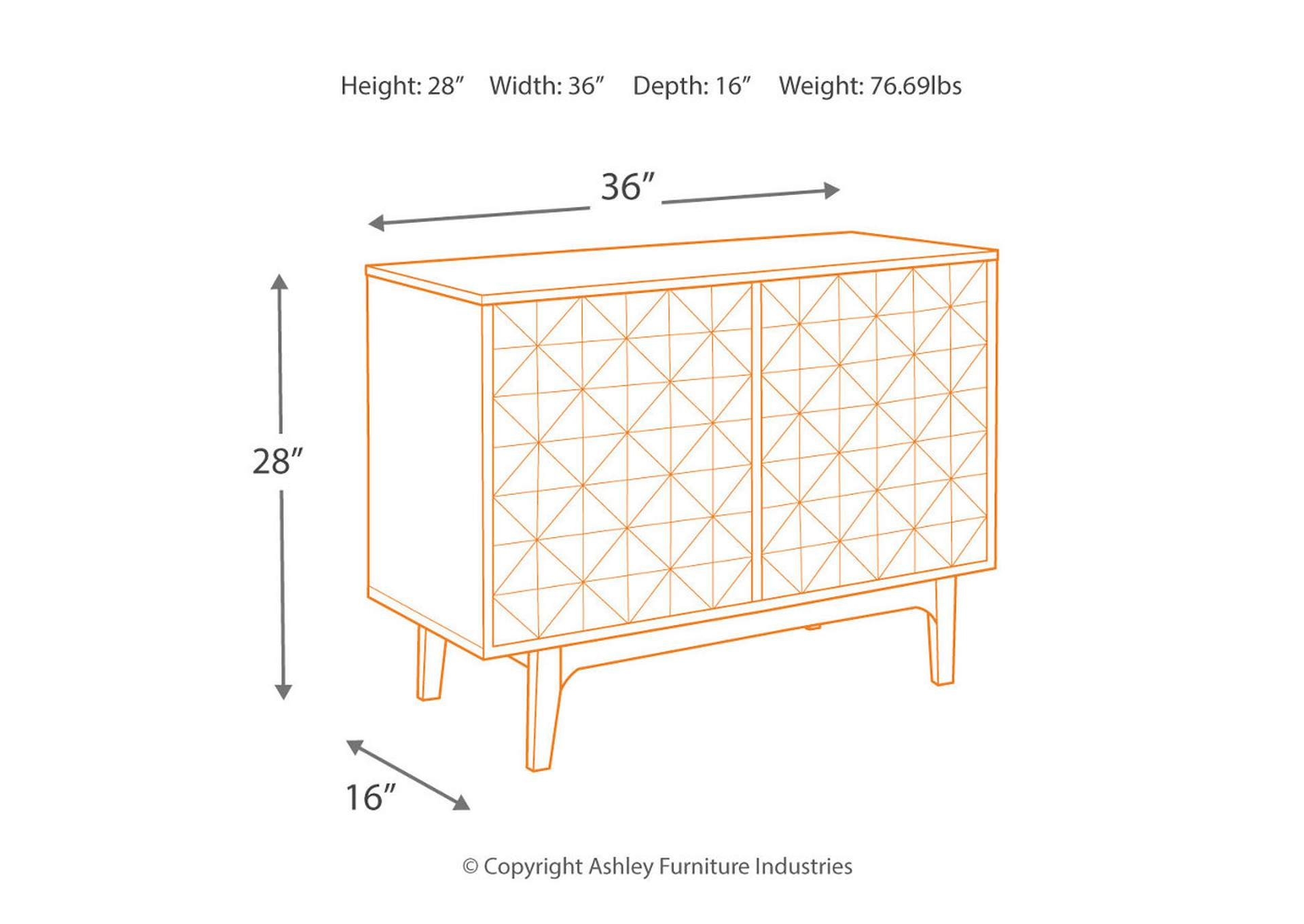 Carolmore Brown/Gold Accent Cabinet,Direct To Consumer Express