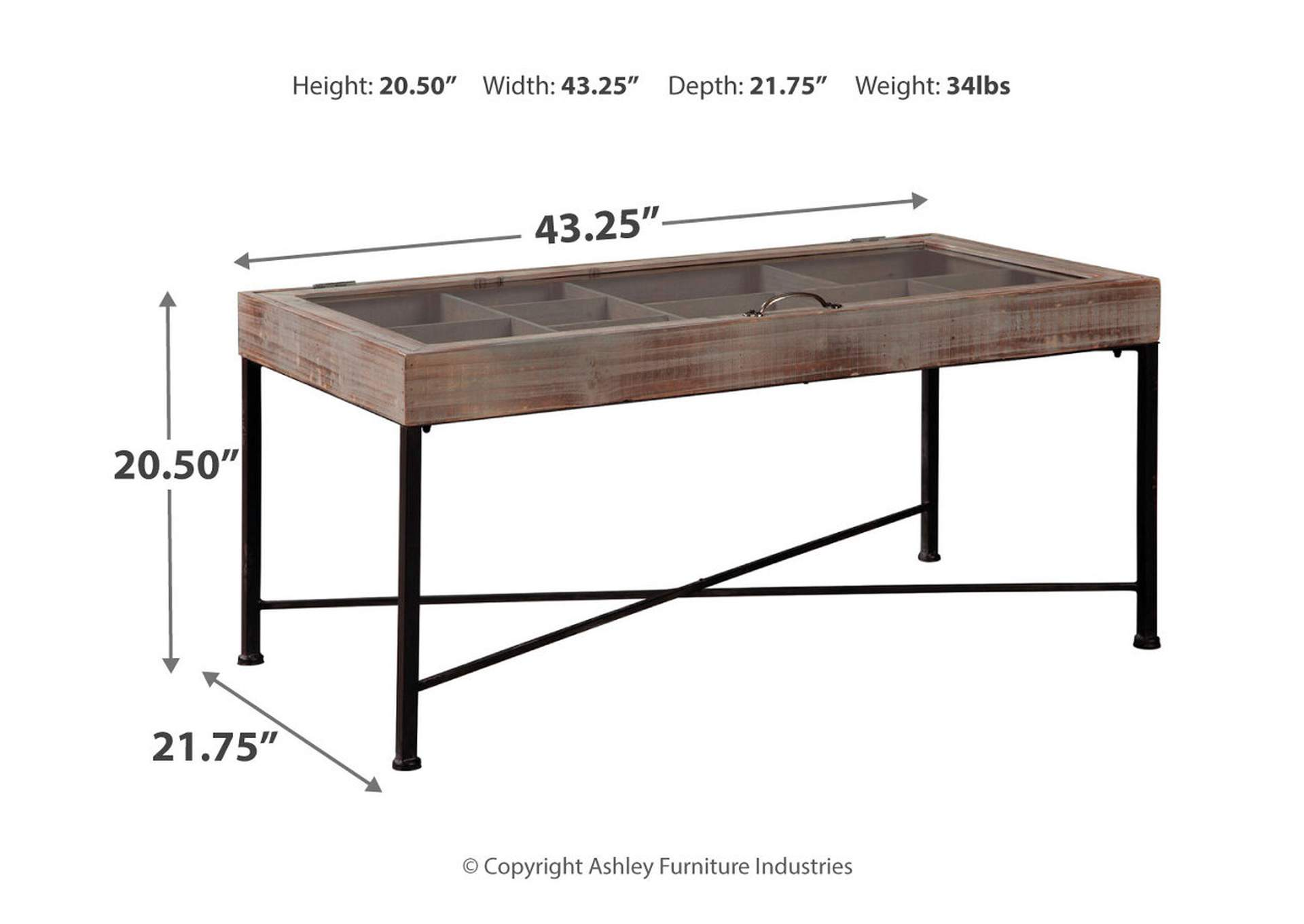 Shellmond Antique Gray/Black Accent Cocktail Table,Signature Design By Ashley