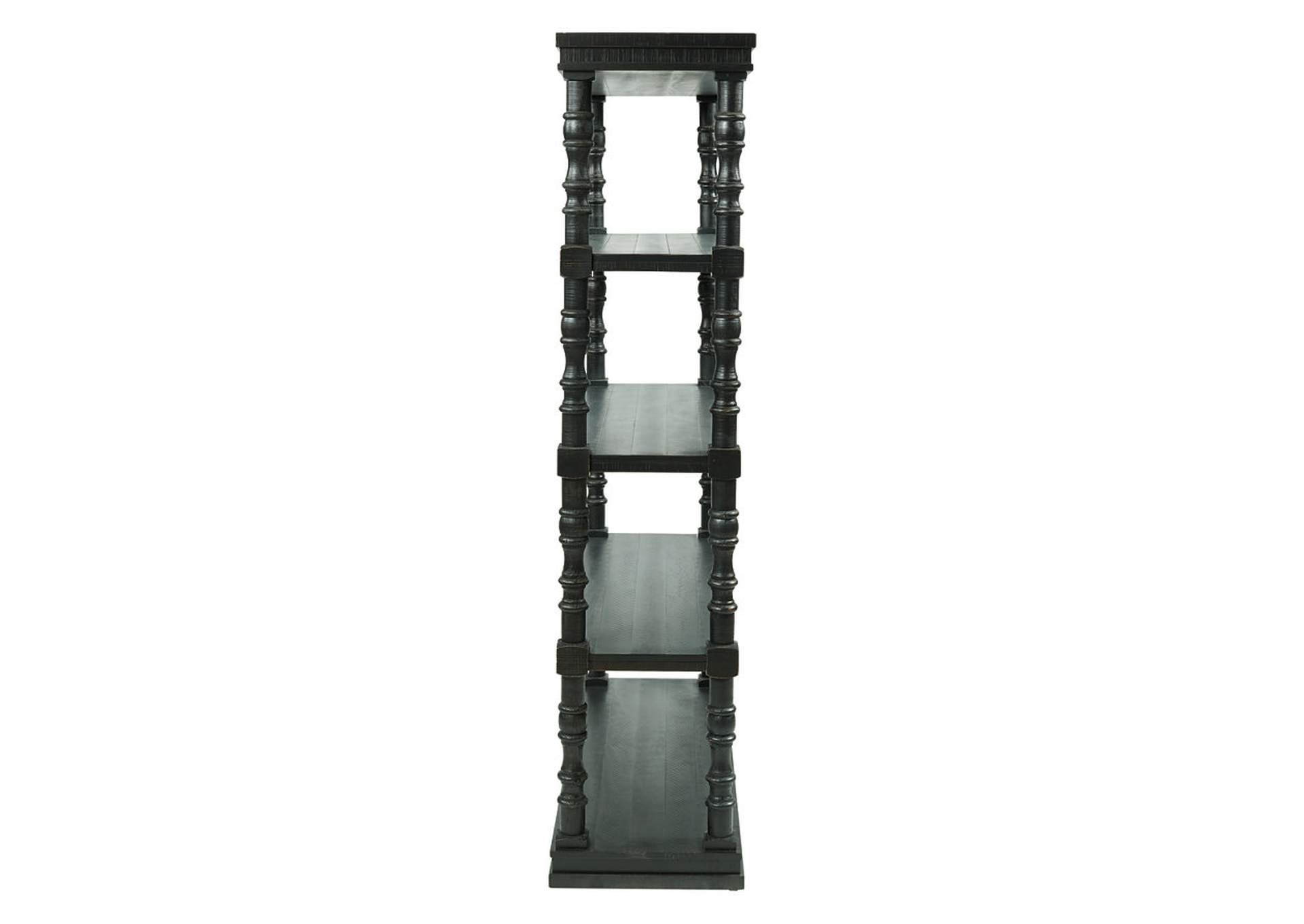 "Dannerville Antique Black 74"" Bookcase,Signature Design By Ashley"