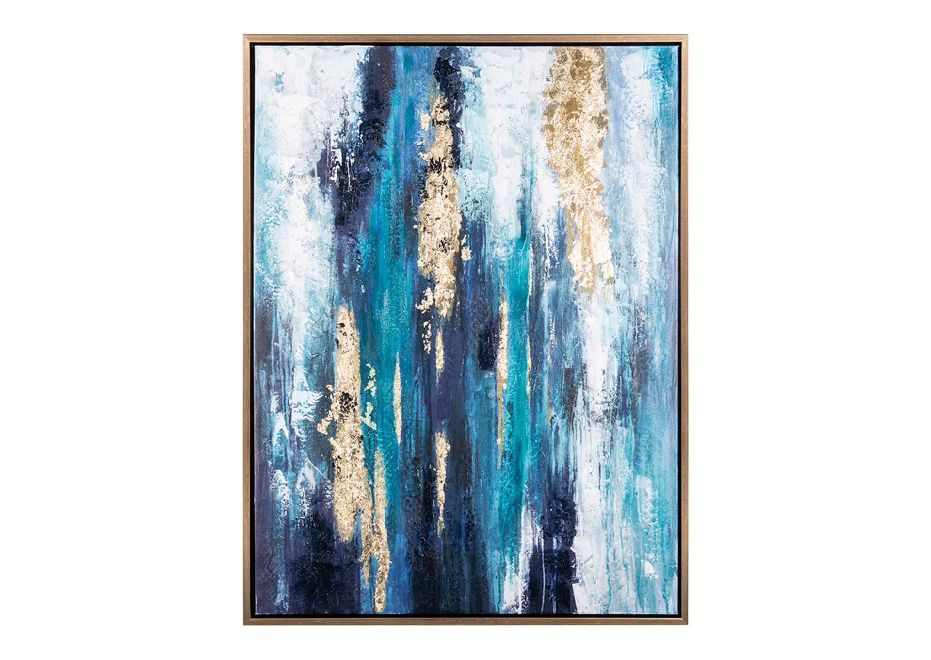 Dinorah Teal Blue Wall Art,Direct To Consumer Express
