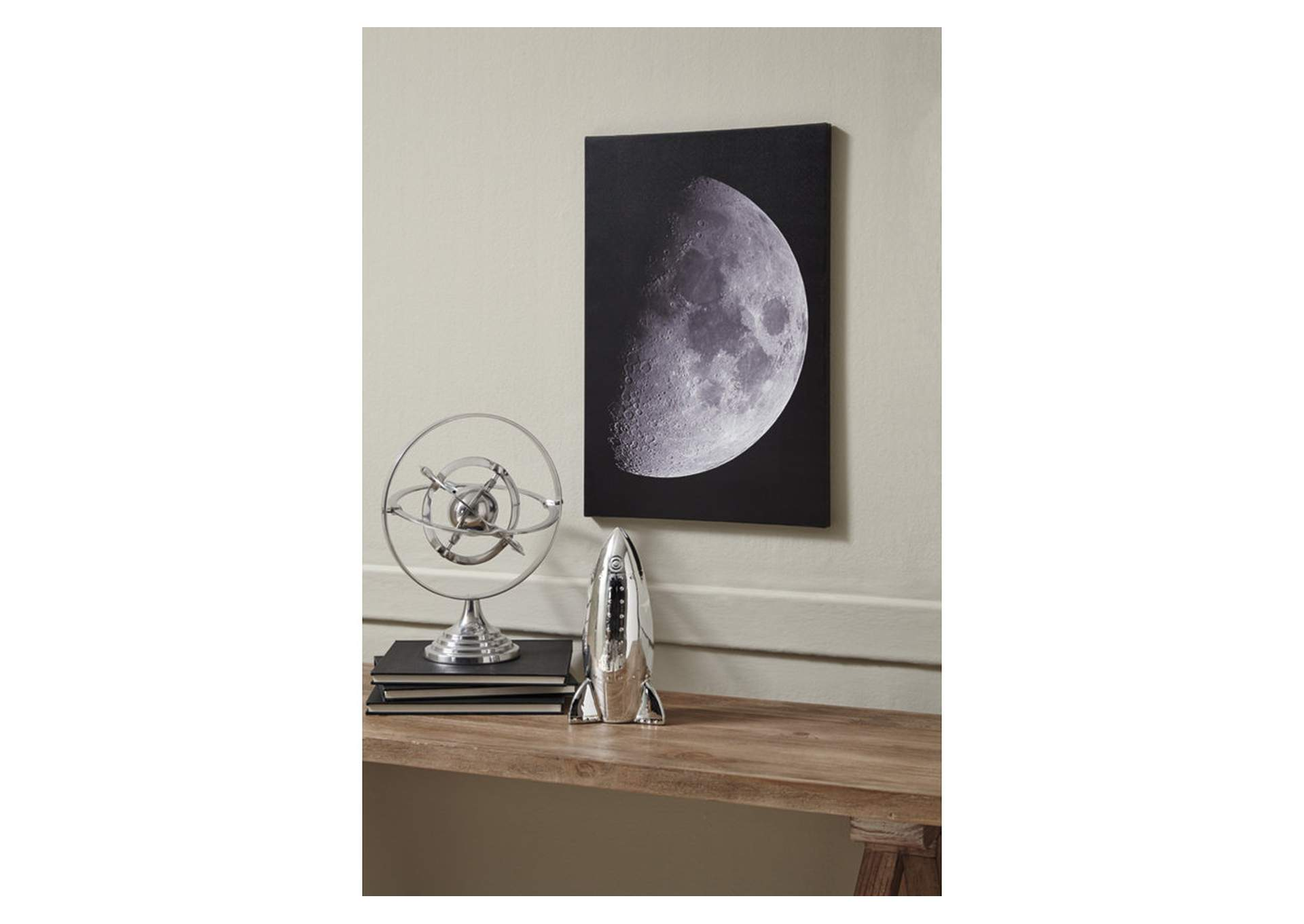 Draco Black/White Moon Wall Art,Signature Design By Ashley