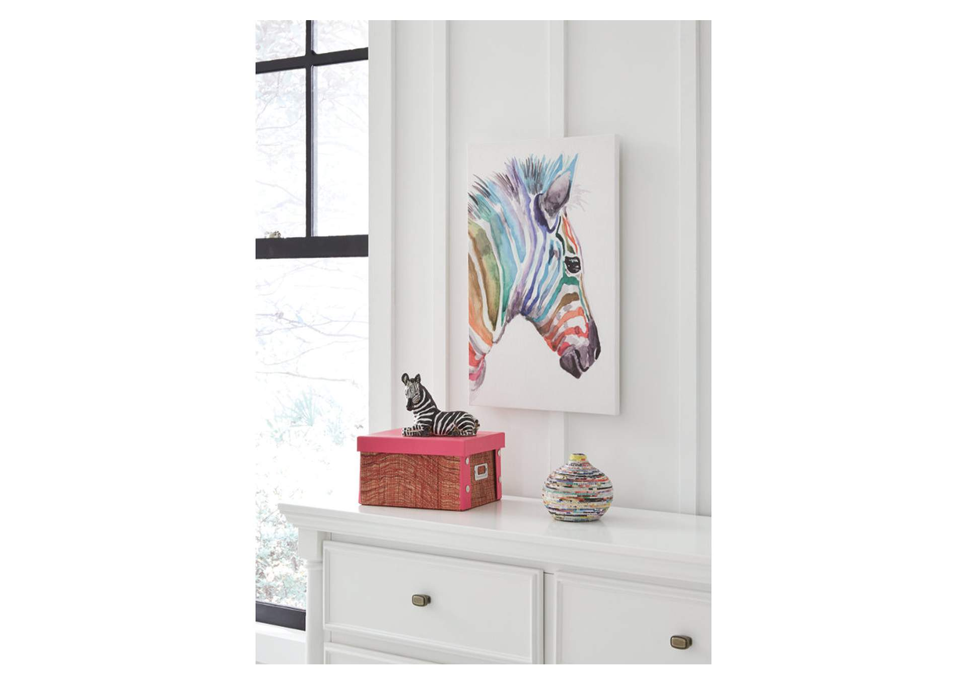 Priya Multicolor Zebra Wall Art,Signature Design By Ashley