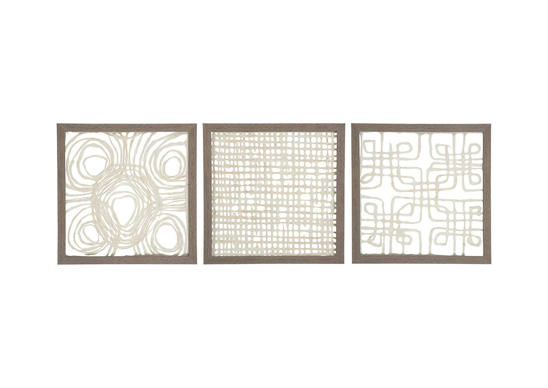 Odella Cream/Taupe Wall Decor Set,Direct To Consumer Express