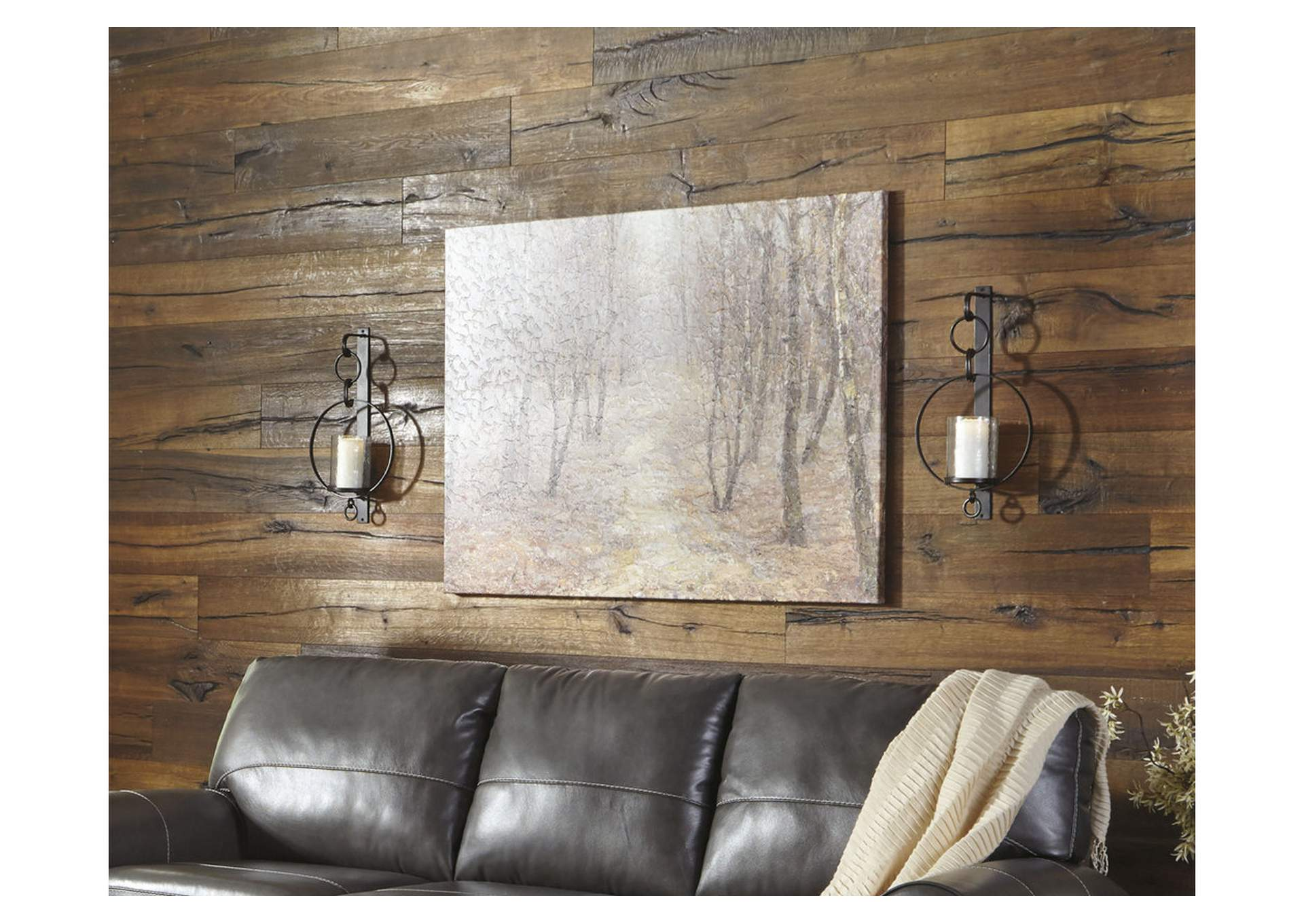 Ogaleesha Brown Wall Sconce,Direct To Consumer Express