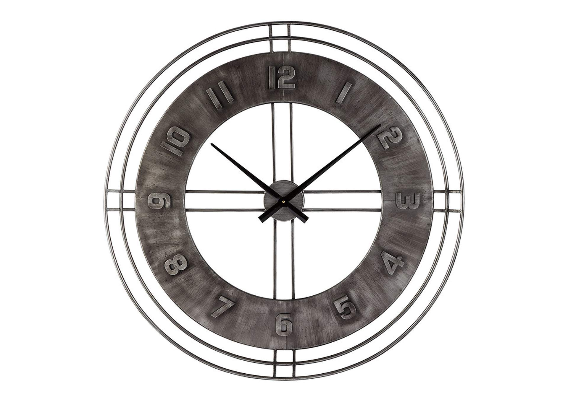 Ana Sofia Antique Gray Wall Clock,Direct To Consumer Express