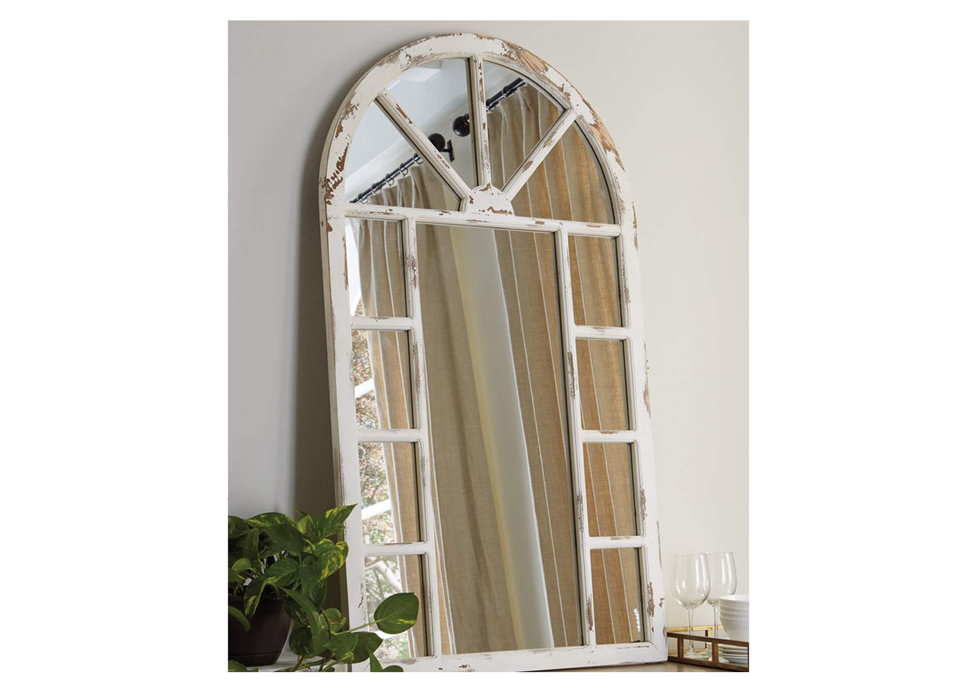Divakar Antique White Accent Mirror,Direct To Consumer Express