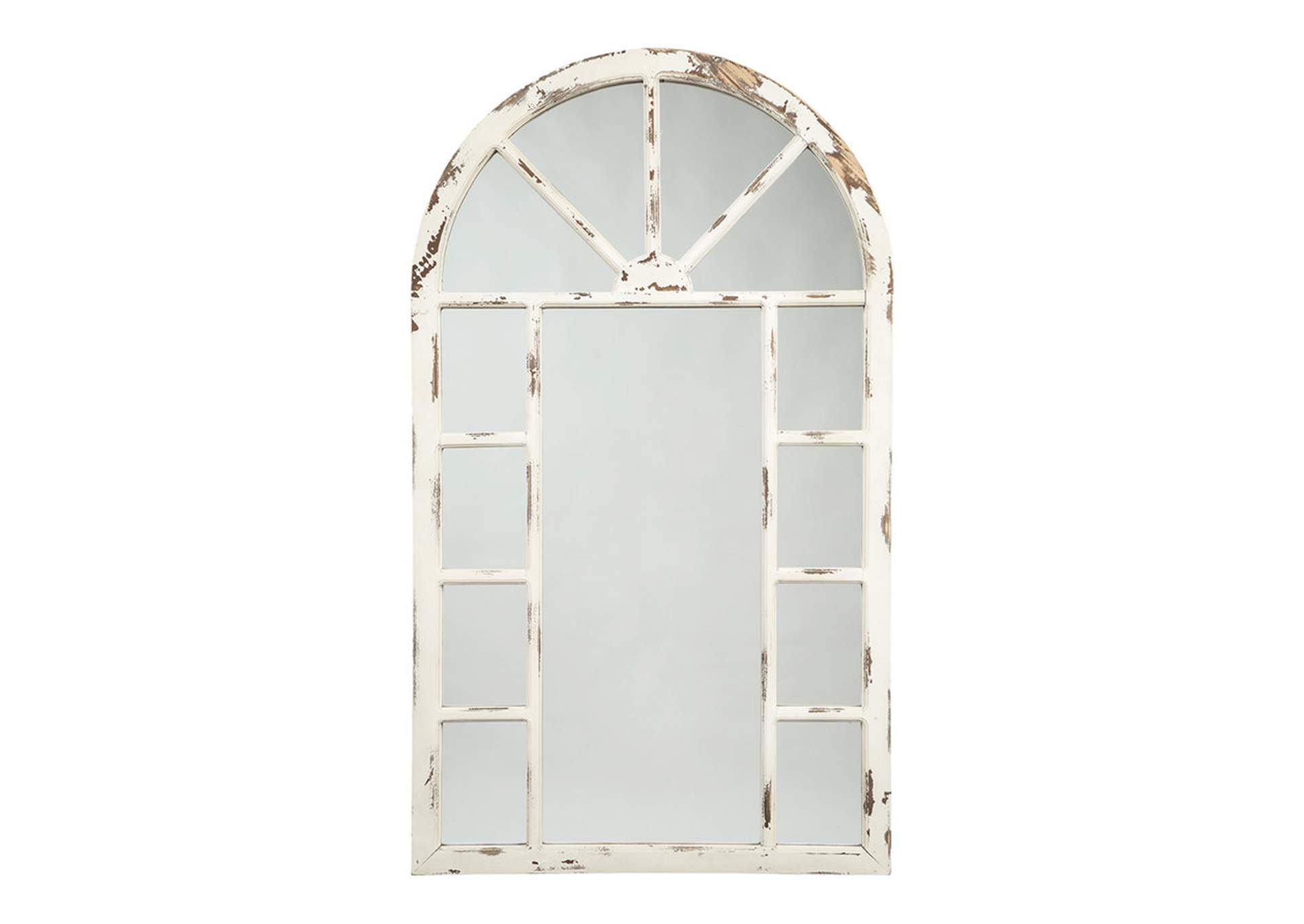 Divakar Antique White Accent Mirror,Signature Design By Ashley