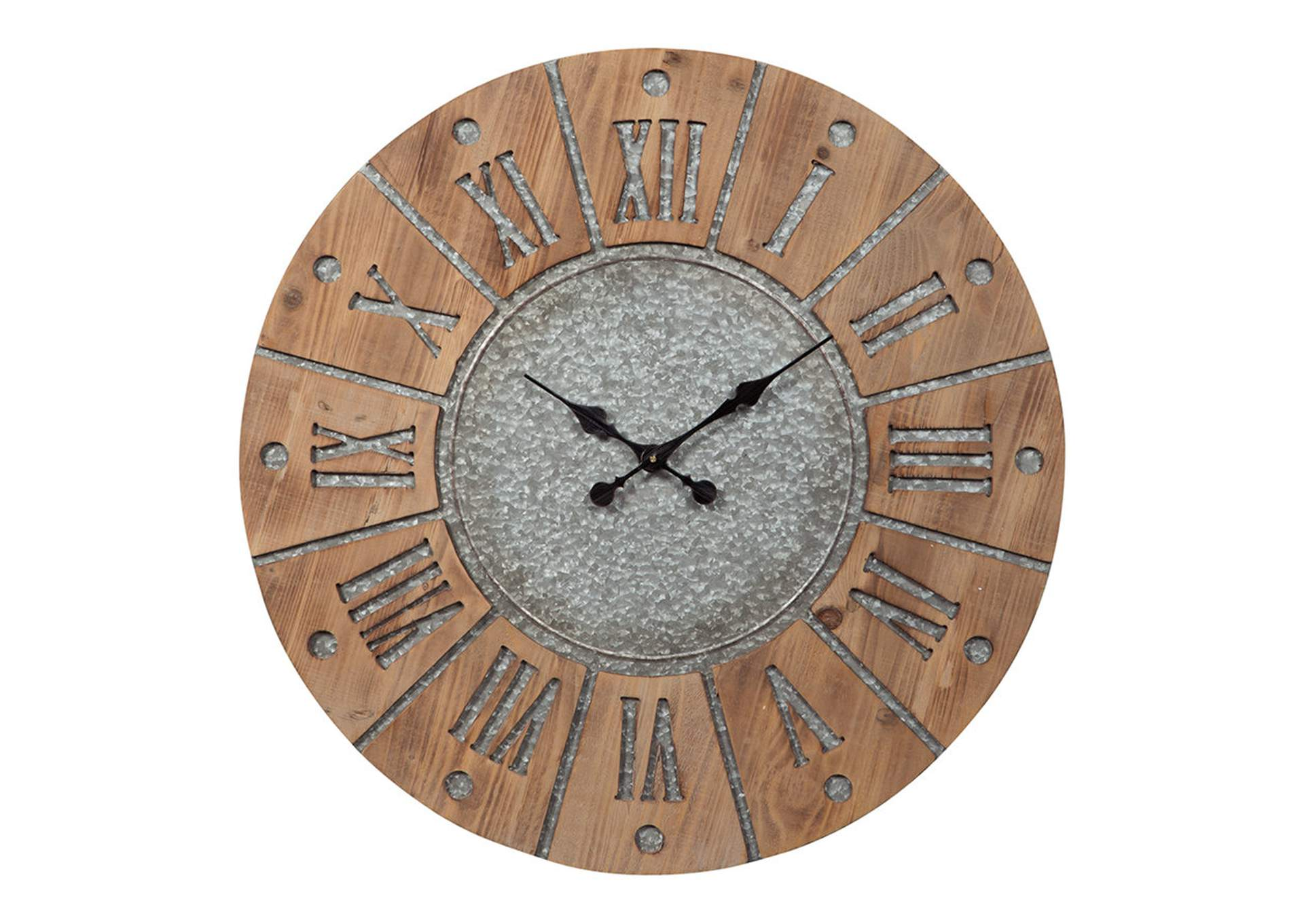 Payson Antique Gray/Natural Wall Clock,Direct To Consumer Express