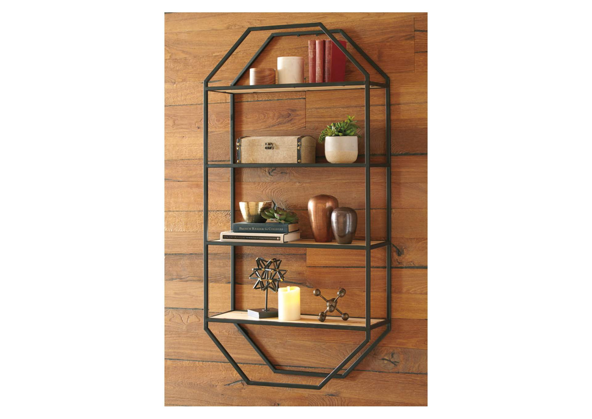 Elea Black/Natural Wall Shelf,Direct To Consumer Express
