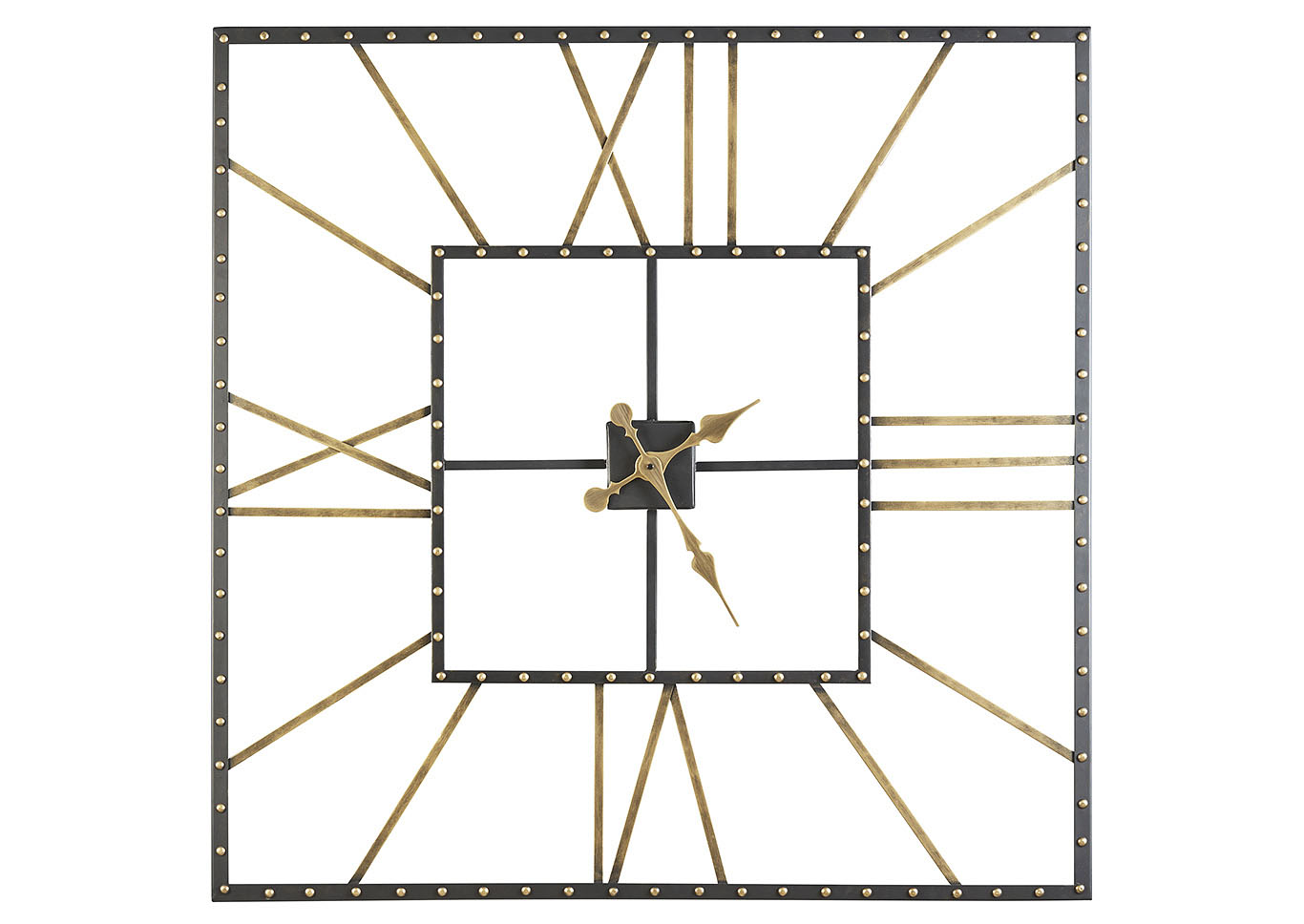 Thames Black/Gold Finish Wall Clock,Signature Design By Ashley