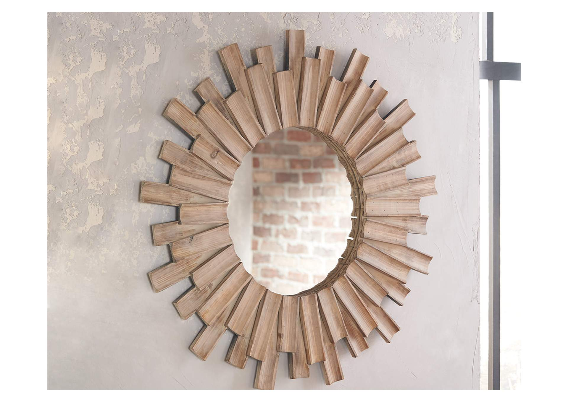 Donata Natural Accent Mirror,Direct To Consumer Express