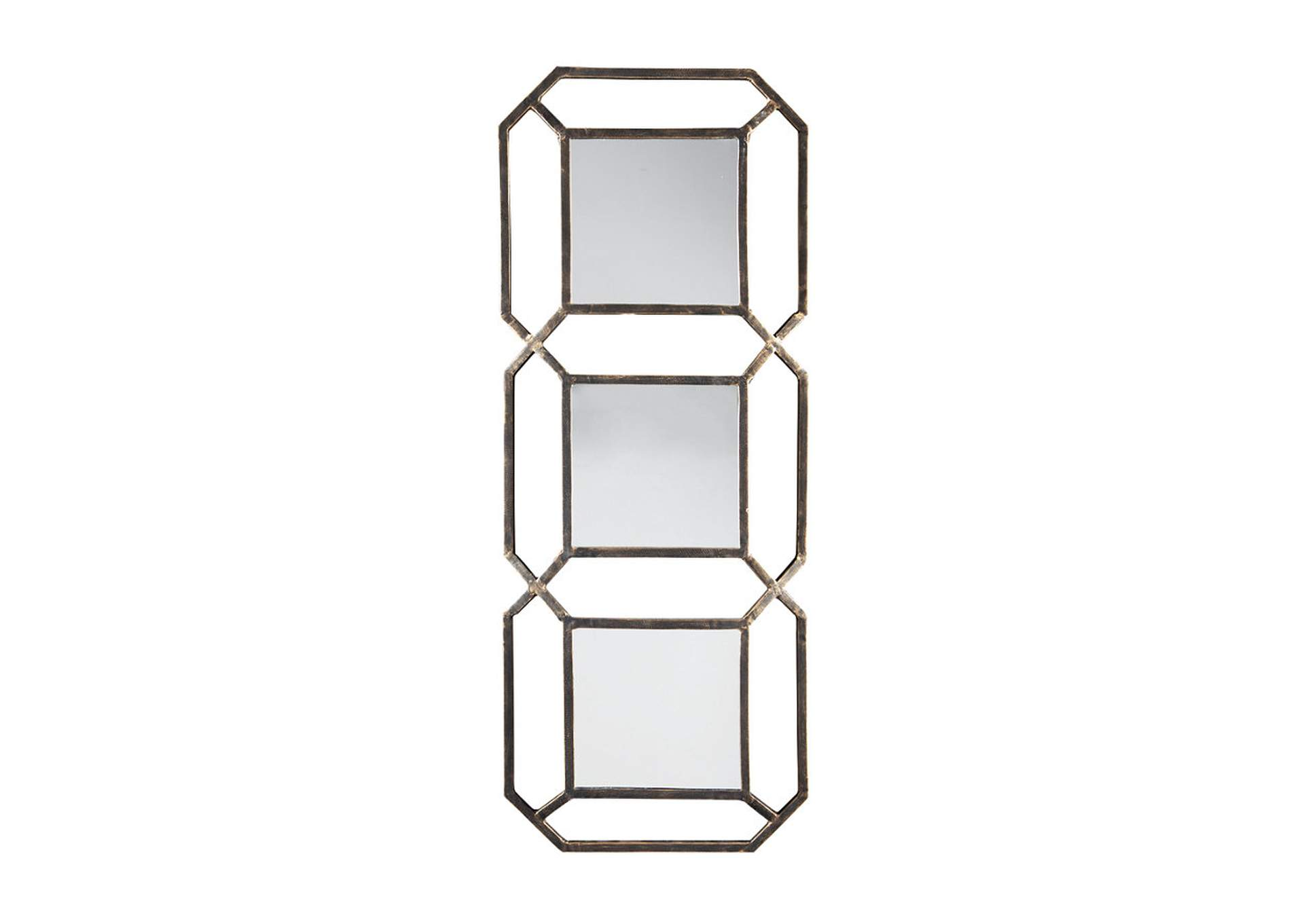Savane Gold Accent Mirror,Signature Design By Ashley