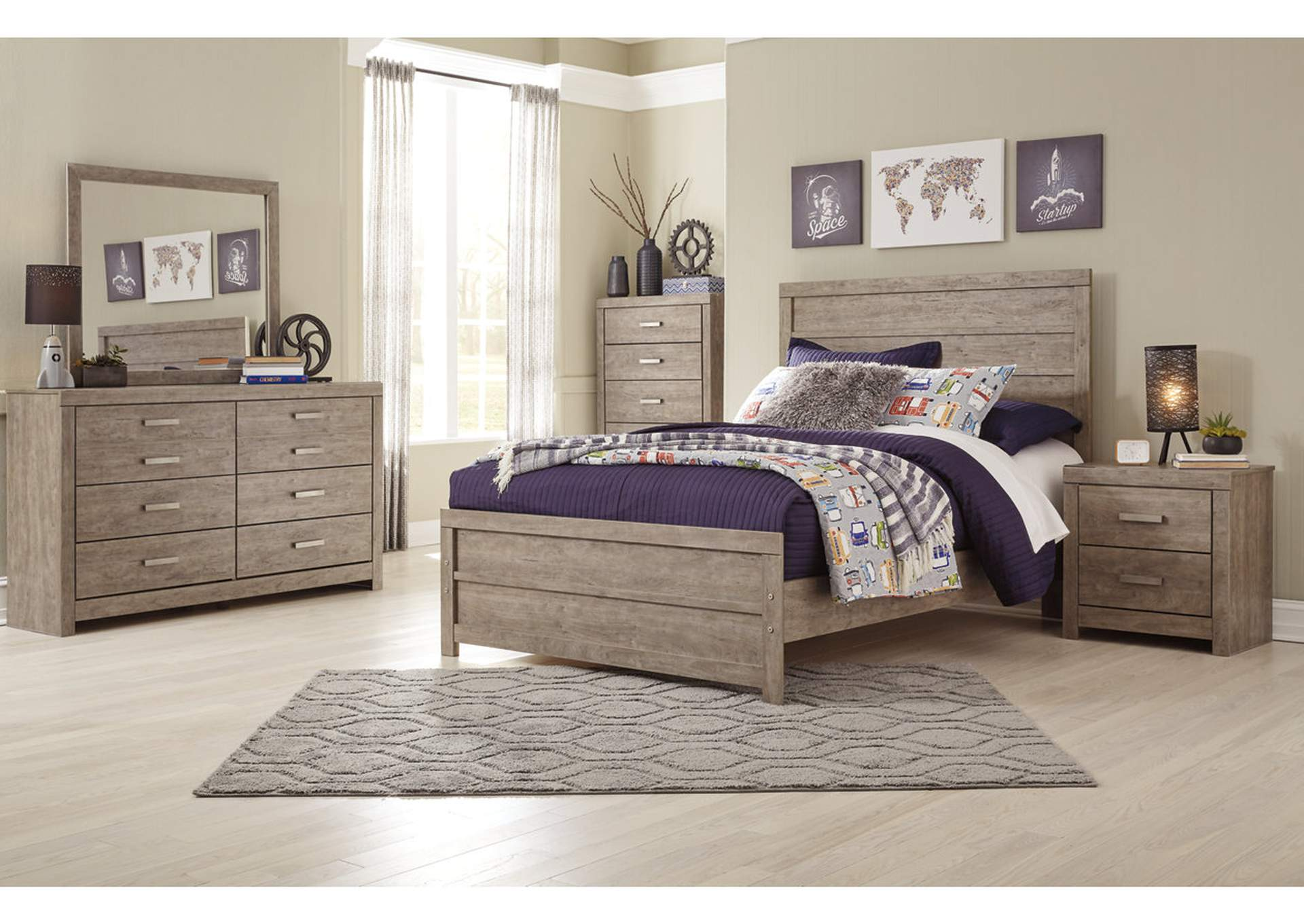 Culverbach Full Panel Bed w/Dresser and Mirror,Signature Design By Ashley