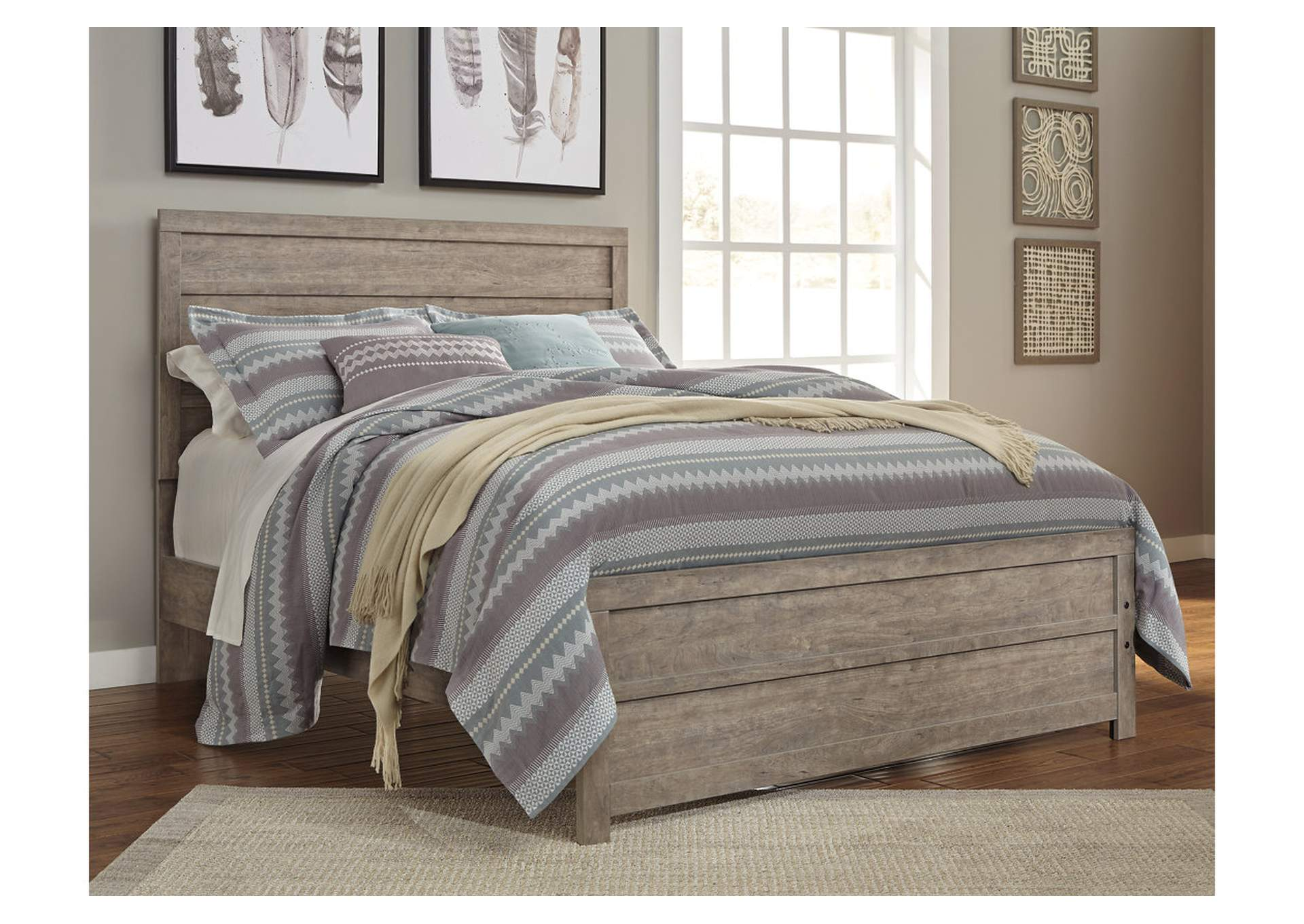 Culverbach Gray Queen Panel Bed,Signature Design By Ashley