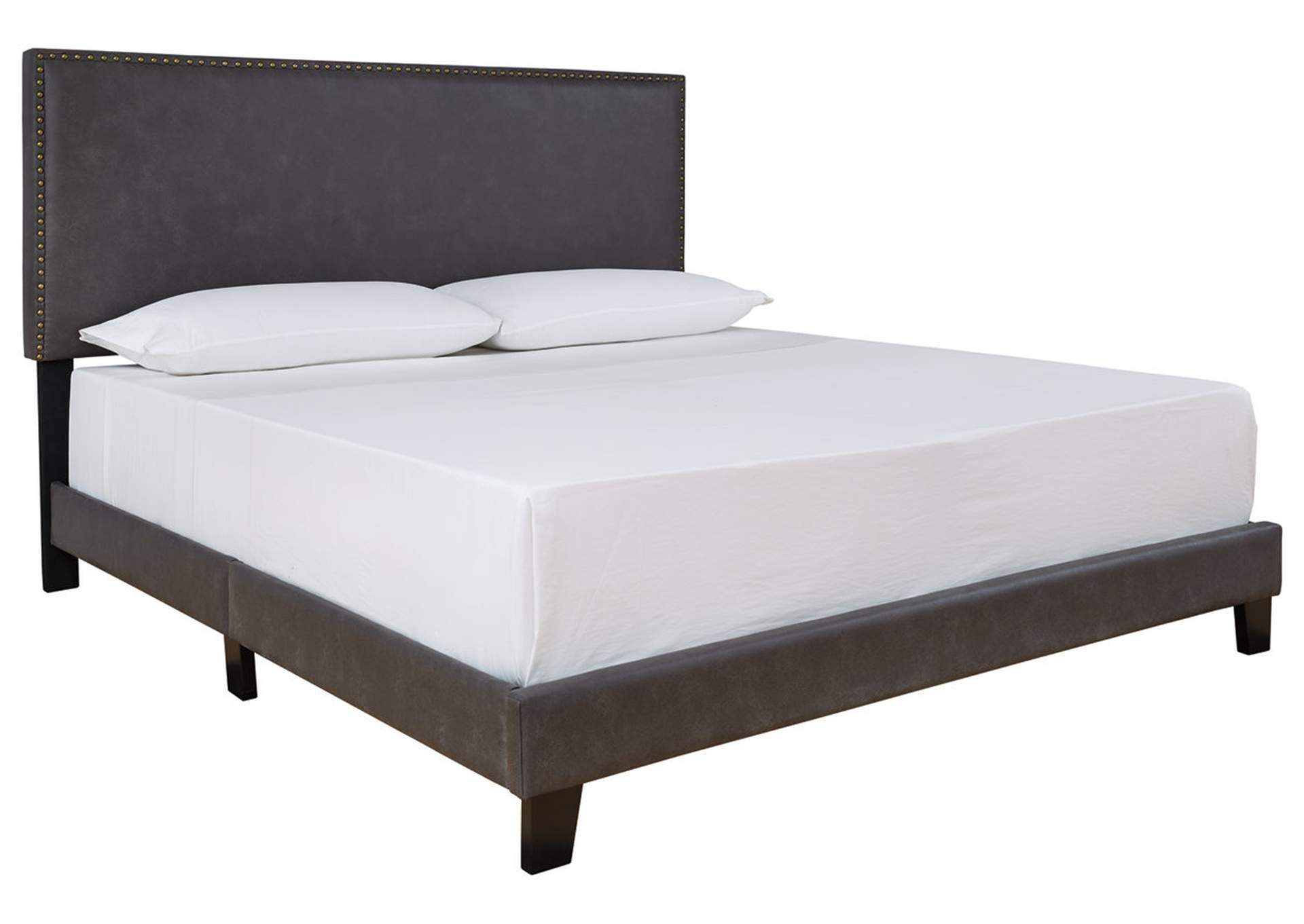 Vintasso Grayish Brown King Upholstered Bed,Signature Design By Ashley