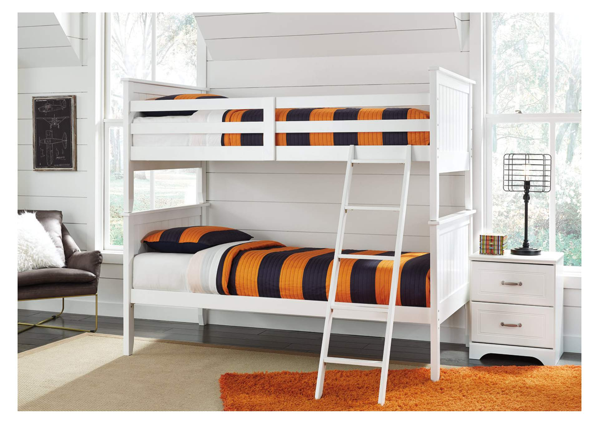 Lulu White Twin/Twin Bunk Bed,Direct To Consumer Express