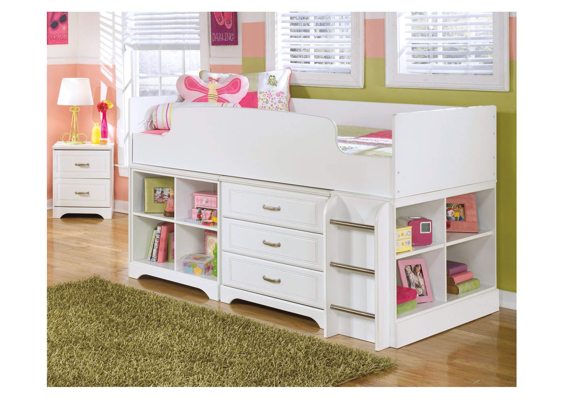 Lulu Twin Loft Bed w/Storage,Signature Design By Ashley