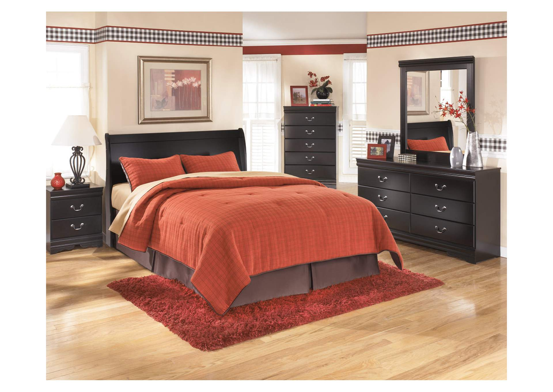 Huey Vineyard King Sleigh Headboard, Dresser, Mirror & Night Stand,Signature Design By Ashley