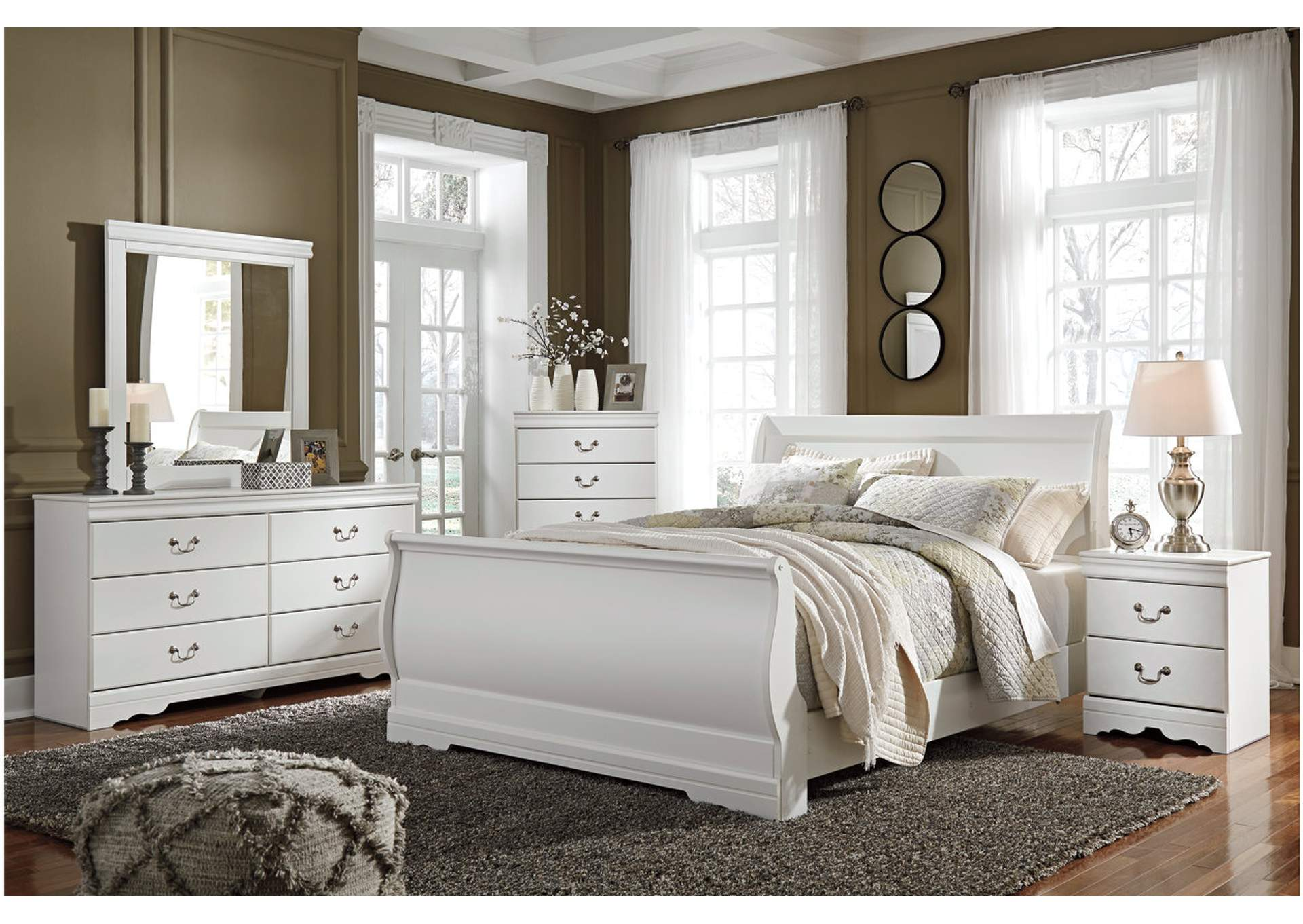 Anarasia White Queen Sleigh Bed,Direct To Consumer Express