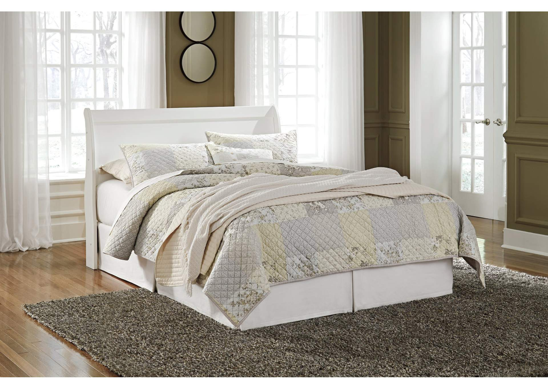 Anarasia White Queen Sleigh Headboard,Direct To Consumer Express