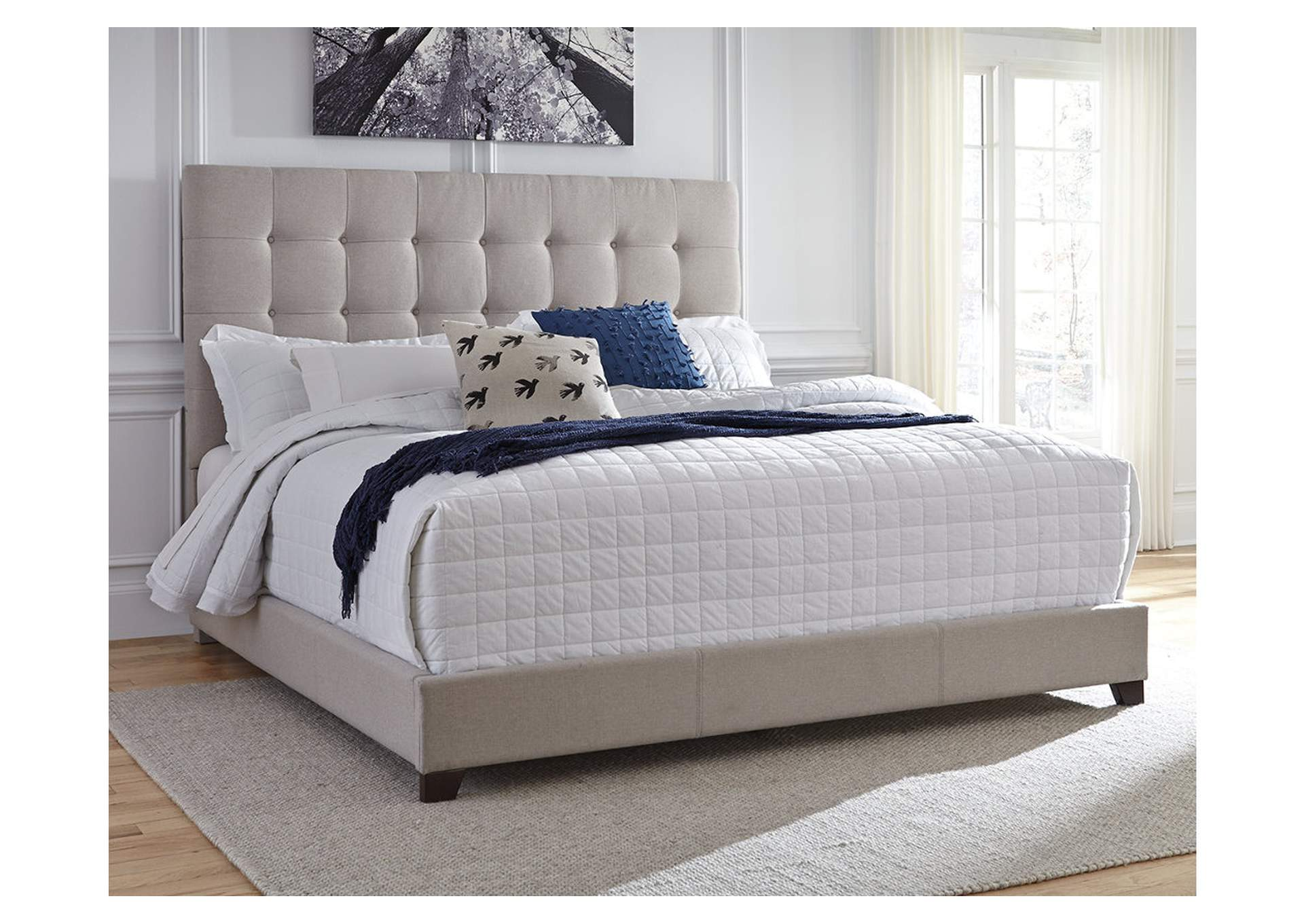 Dolante Beige Queen Upholstered Bed,Direct To Consumer Express