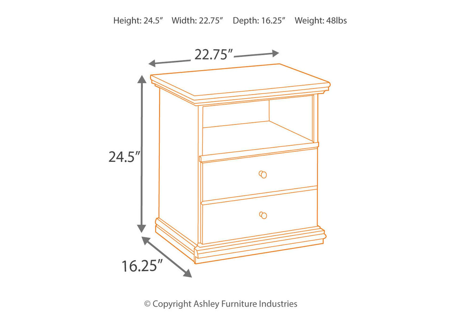 Maribel One Drawer Nightstand,Direct To Consumer Express