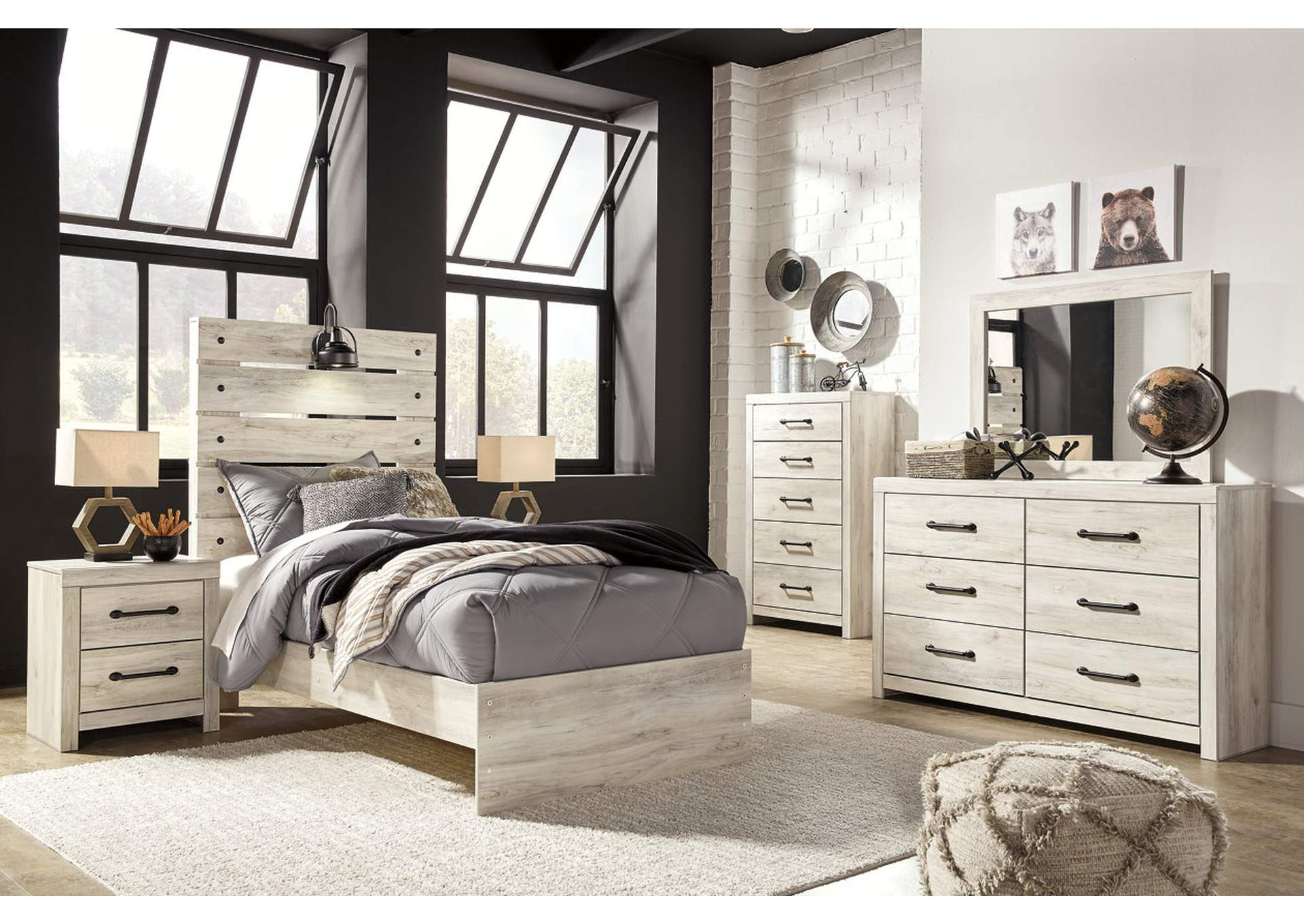 Cambeck Twin Panel Bed w/Dresser and Mirror,Signature Design By Ashley