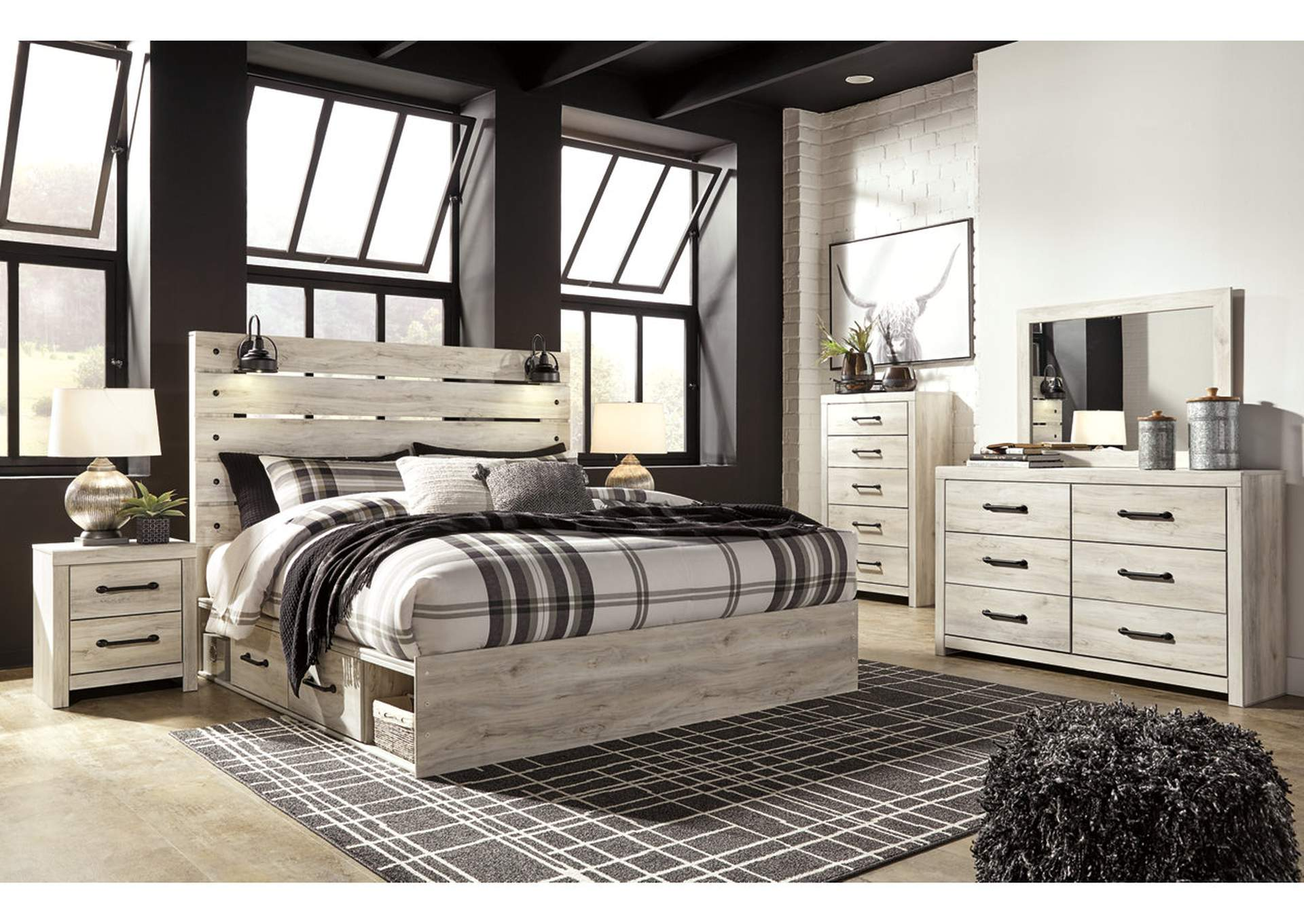 Cambeck King Panel Bed with 4 Storage Drawers,Signature Design By Ashley