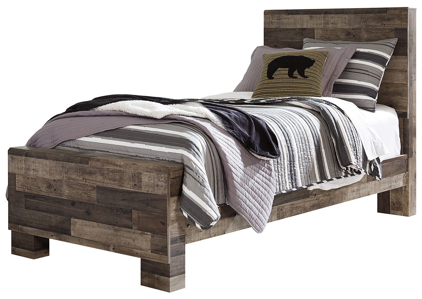 Derekson Twin Panel Bed,Benchcraft