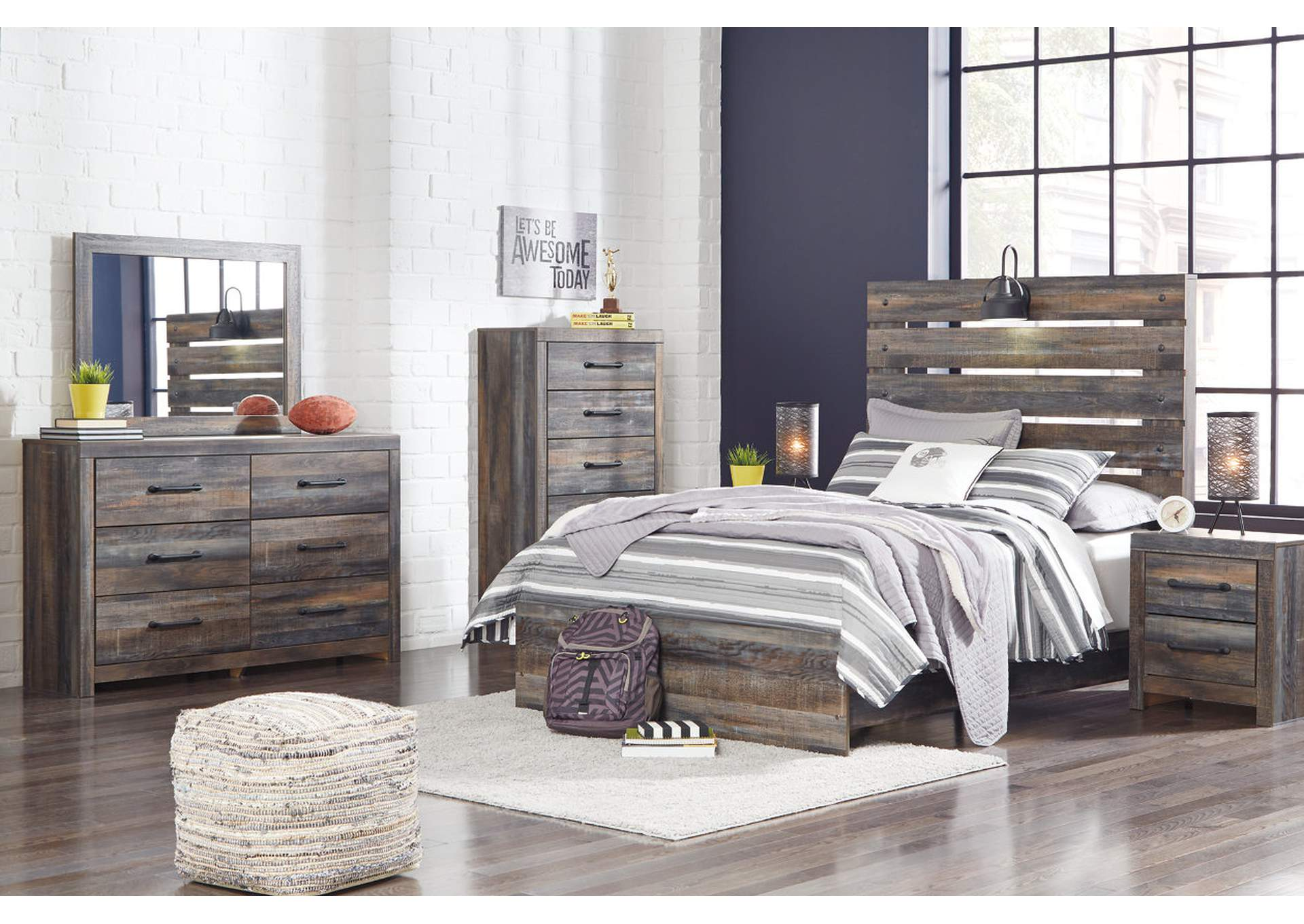 Drystan Full Panel Bed w/Dresser and Mirror,Signature Design By Ashley