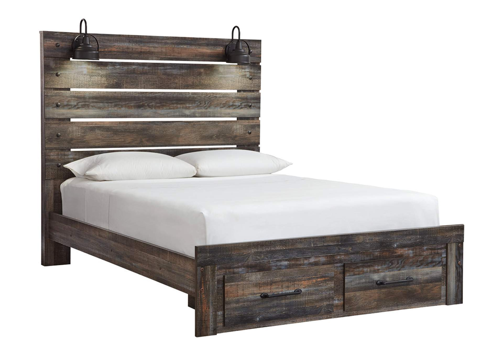 Drystan Queen Panel Bed with 2 Storage Drawers,Signature Design By Ashley