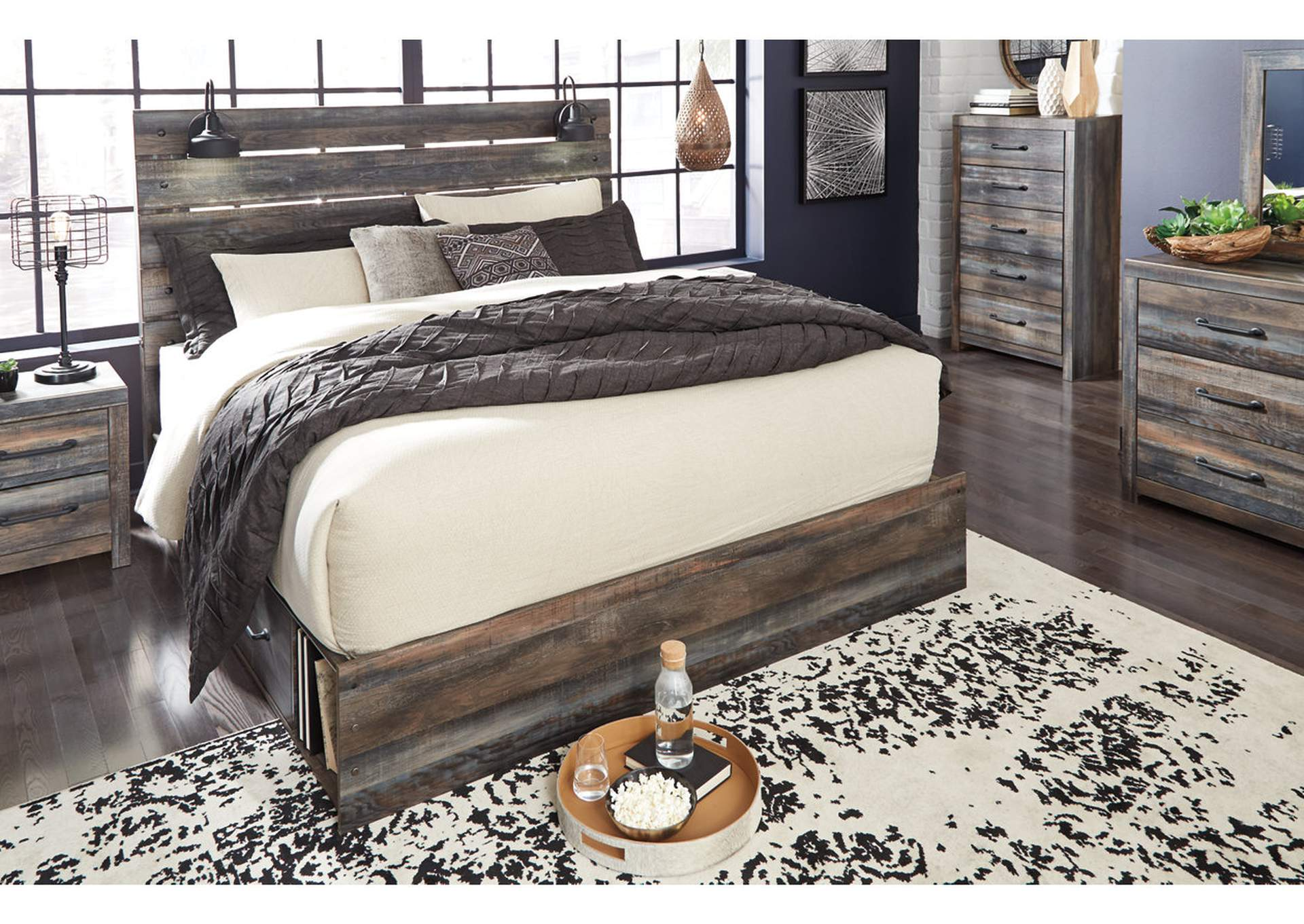 Drystan King Panel Bed with 2 Storage Drawers,Signature Design By Ashley