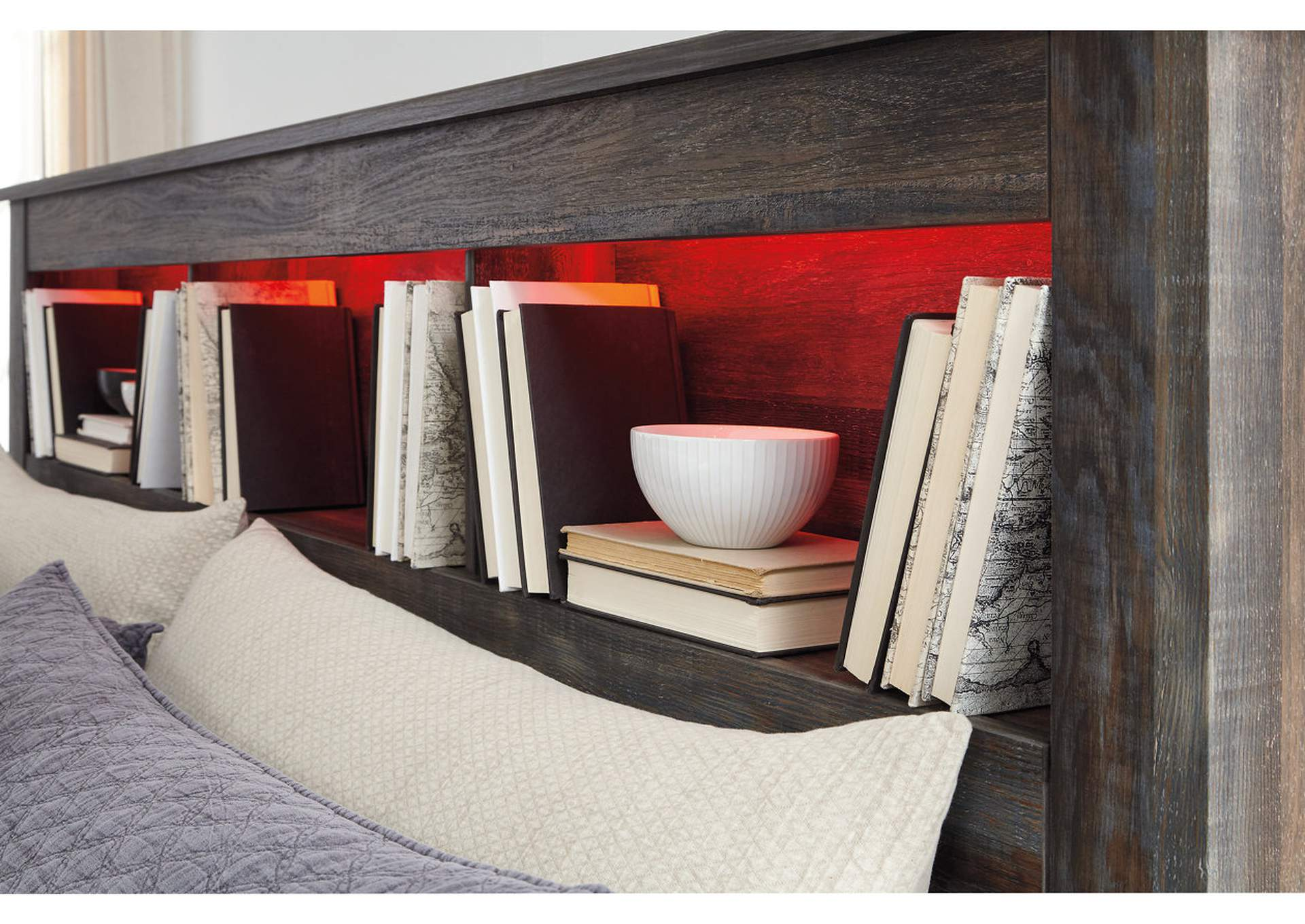 Drystan Queen/Full Bookcase Headboard,Signature Design By Ashley