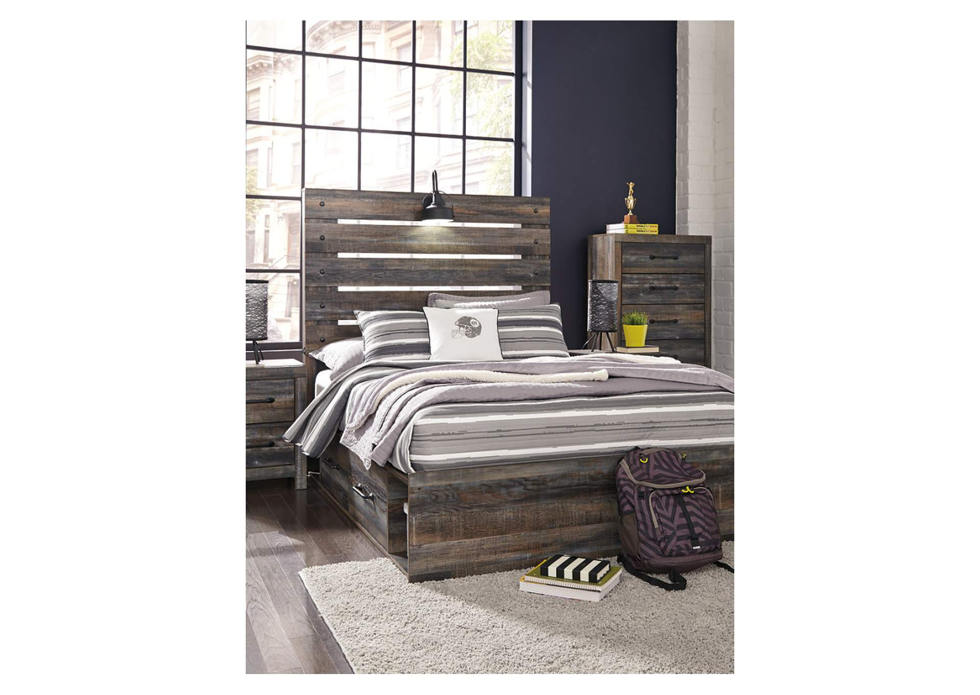 Drystan Full Panel Bed with 2 Storage Drawers,Signature Design By Ashley