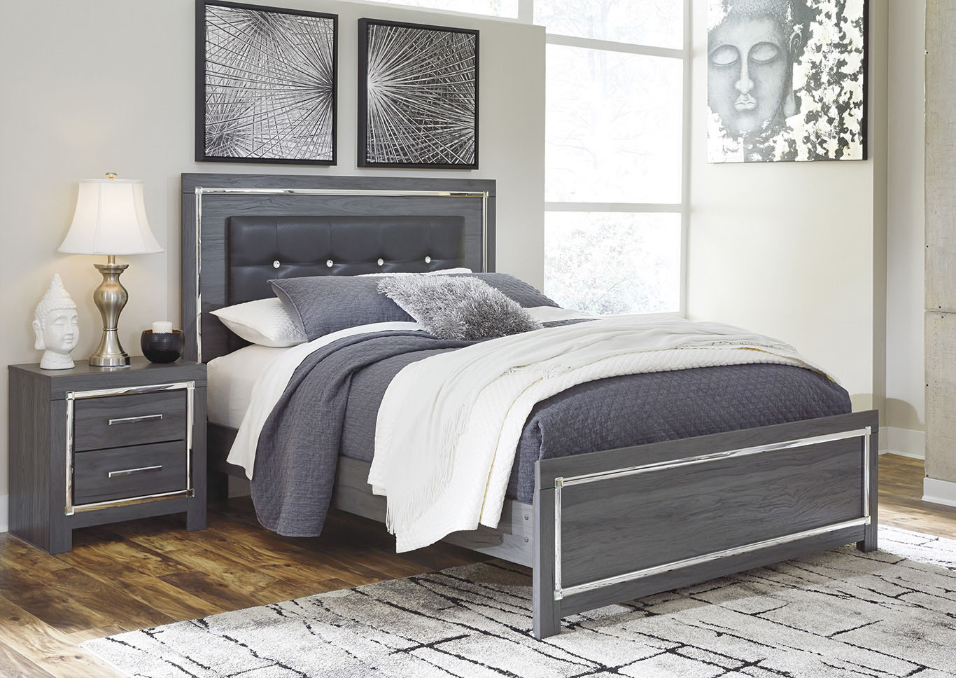 Lodanna Gray Queen Panel Bed,Signature Design By Ashley