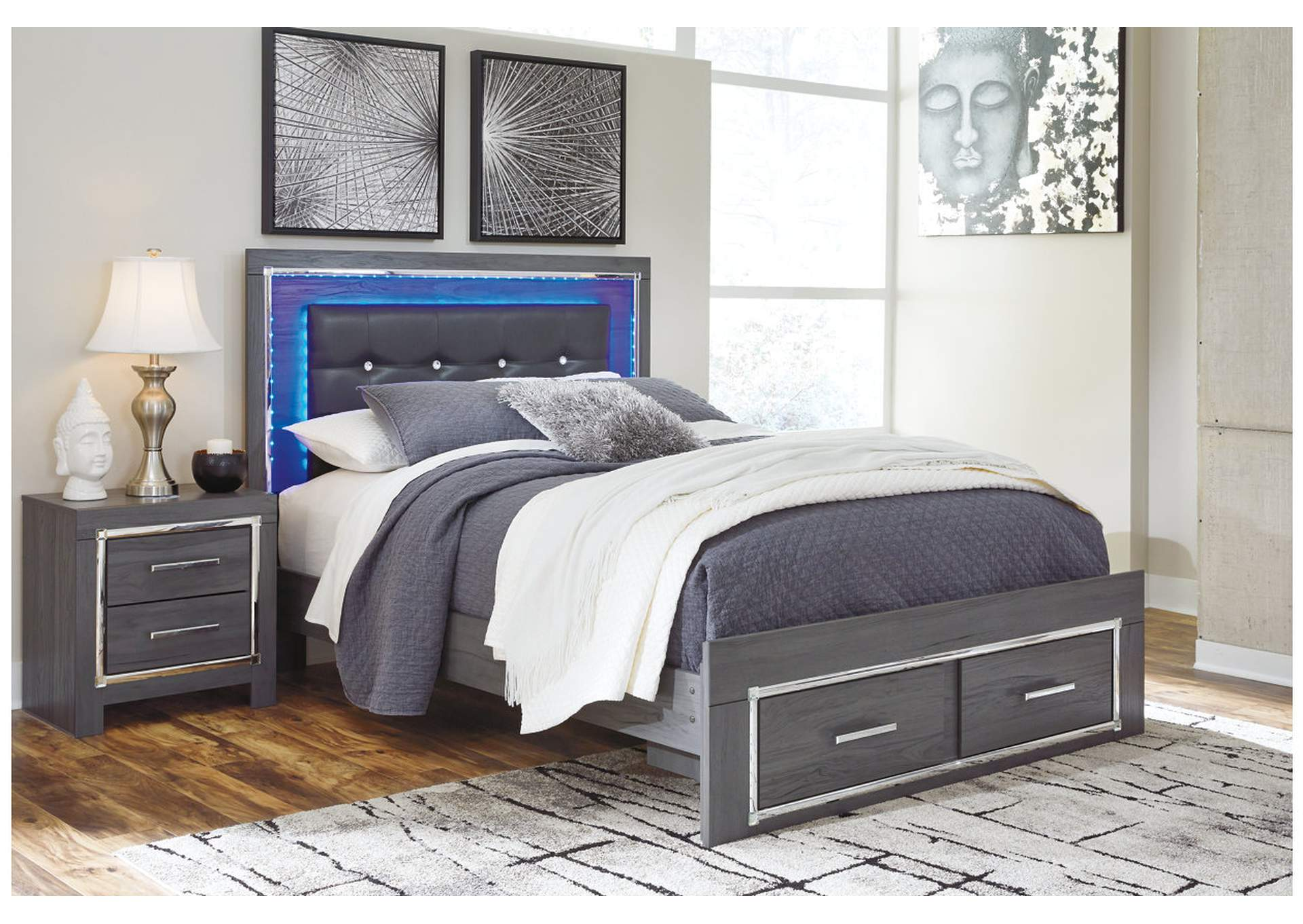 Lodanna Gray Full Storage Bed,Signature Design By Ashley