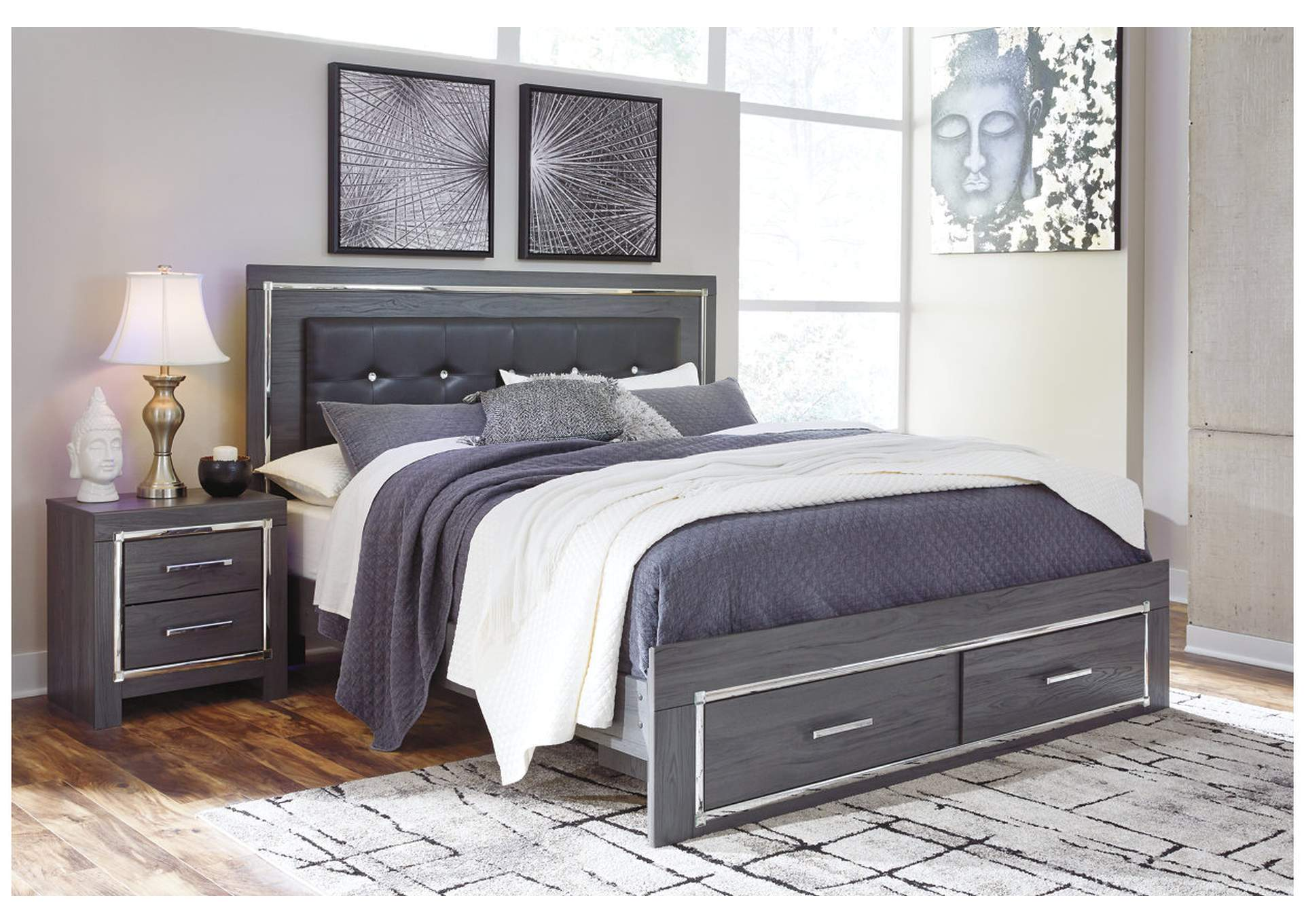 Lodanna Gray King Storage Bed,Signature Design By Ashley
