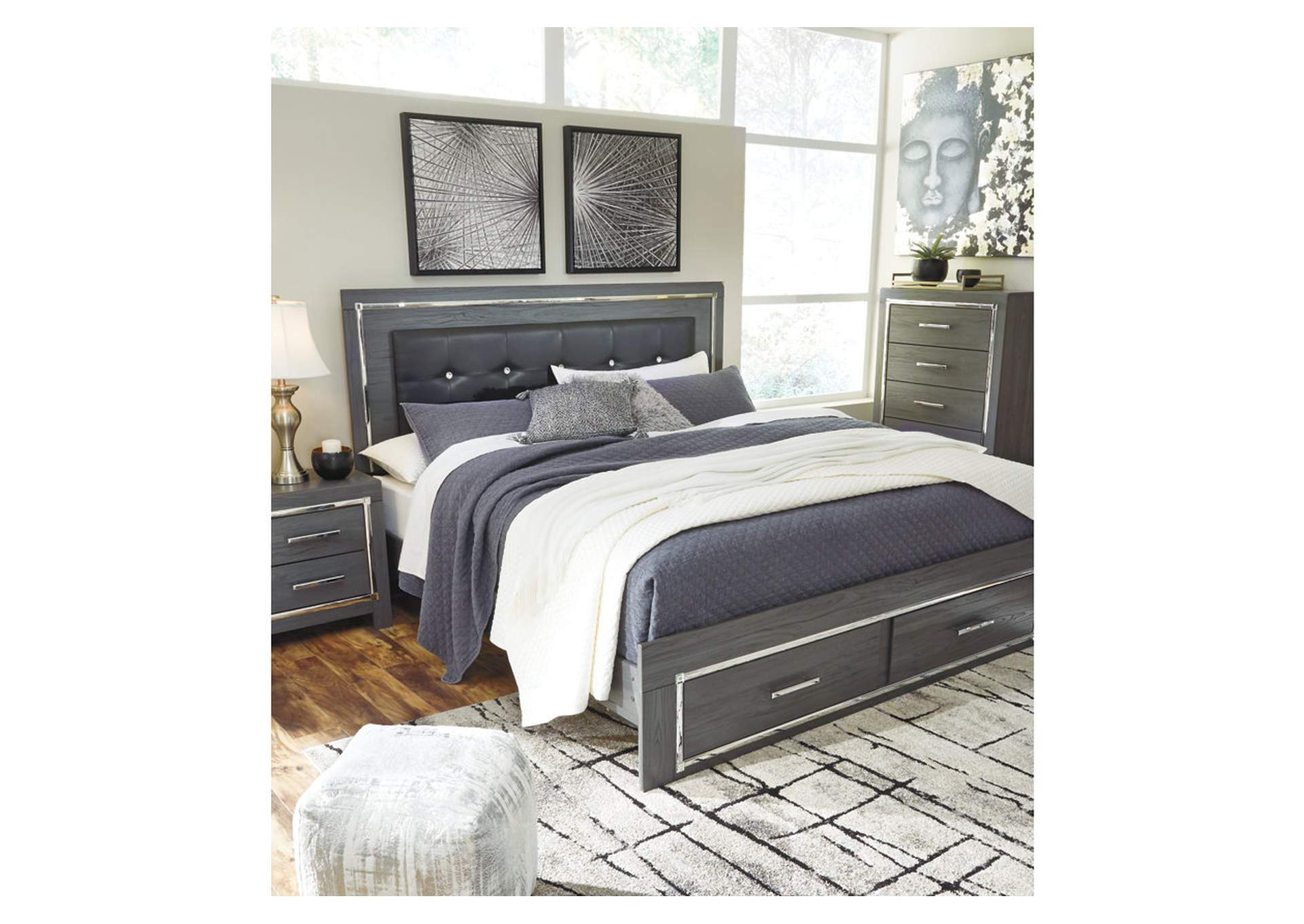 Lodanna King Panel Bed with 2 Storage Drawers,Signature Design By Ashley